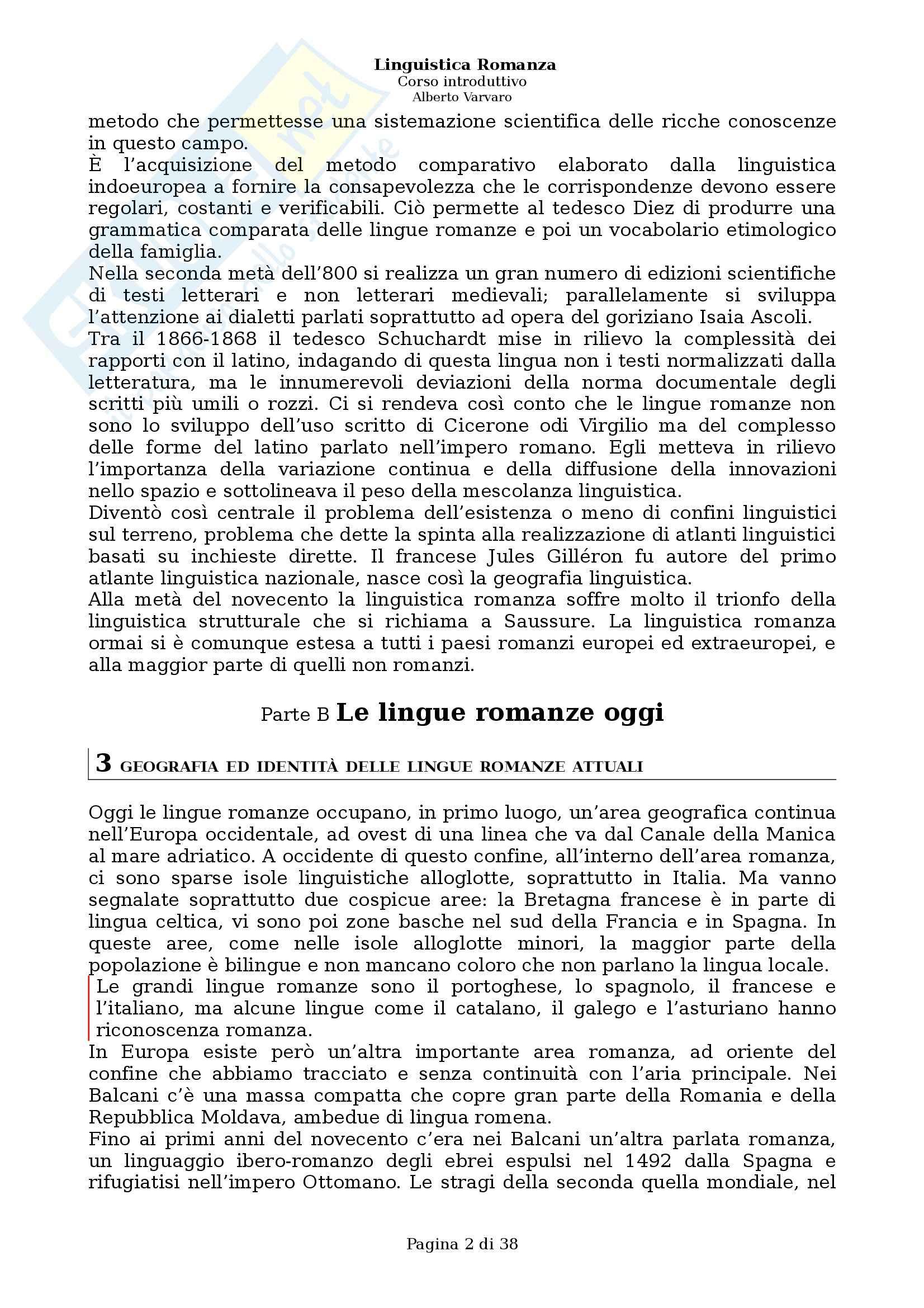 Riassunto esame Filologia e linguistica romanza, Linguistica romanza: Corso introduttivo, A. Varvaro, prof. Asperti Pag. 2