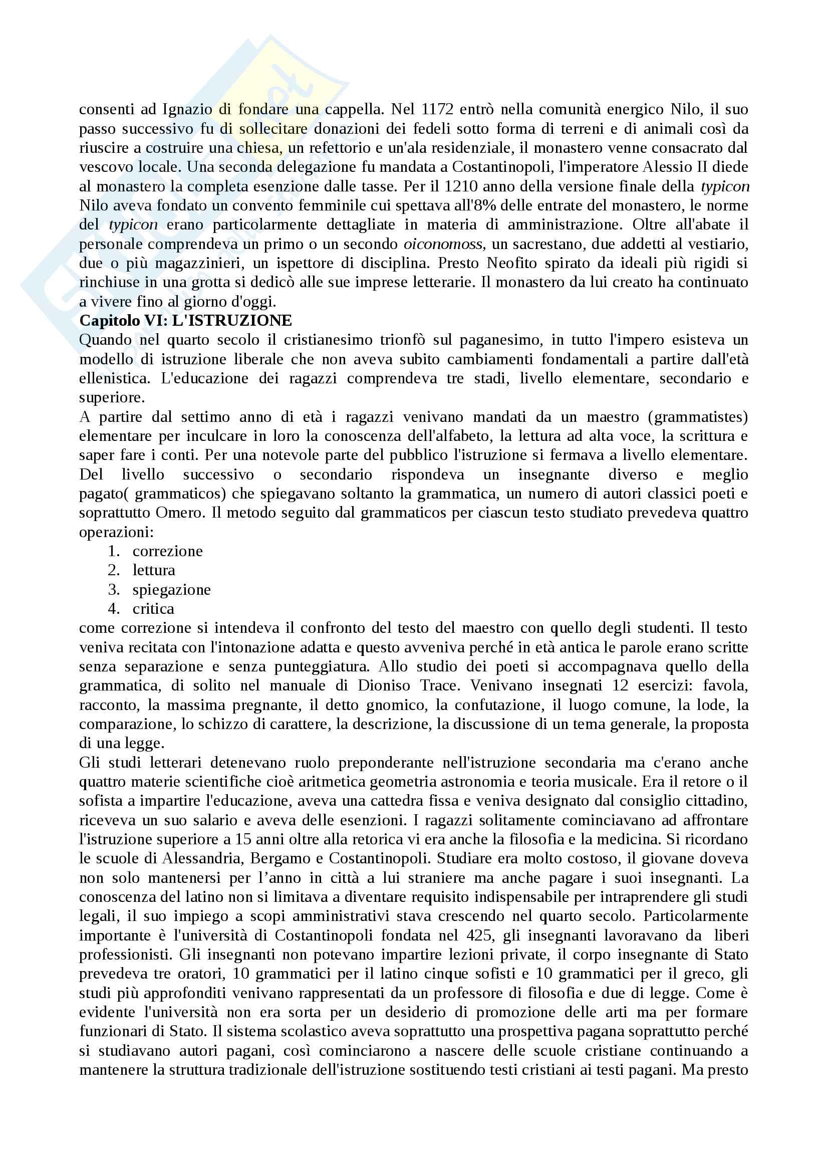 Riassunto esame civiltà bizantina, prof. Marco di Branco, testo consigliato La civiltà bizantina, autore C.Mango Pag. 11