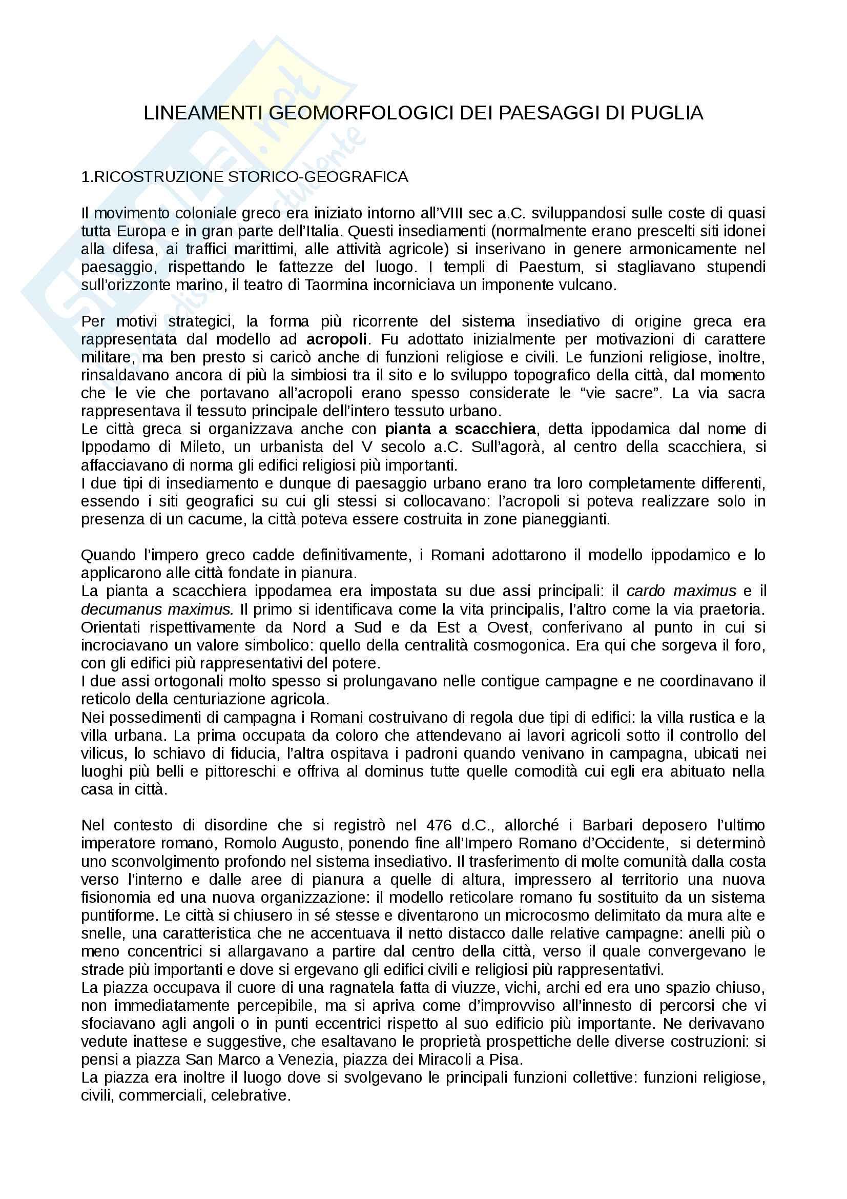 Riassunto esame Geografia, prof. Rossi, libro consigliato Lineamenti geomorfologici dei paesaggi italiani