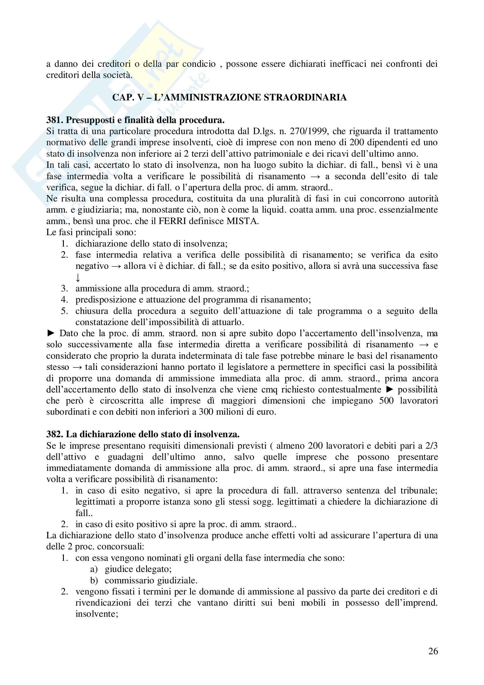 Riassunto esame Diritto Commerciale, prof. Terranova, libro consigliato Diritto Commerciale, Ferri Pag. 26