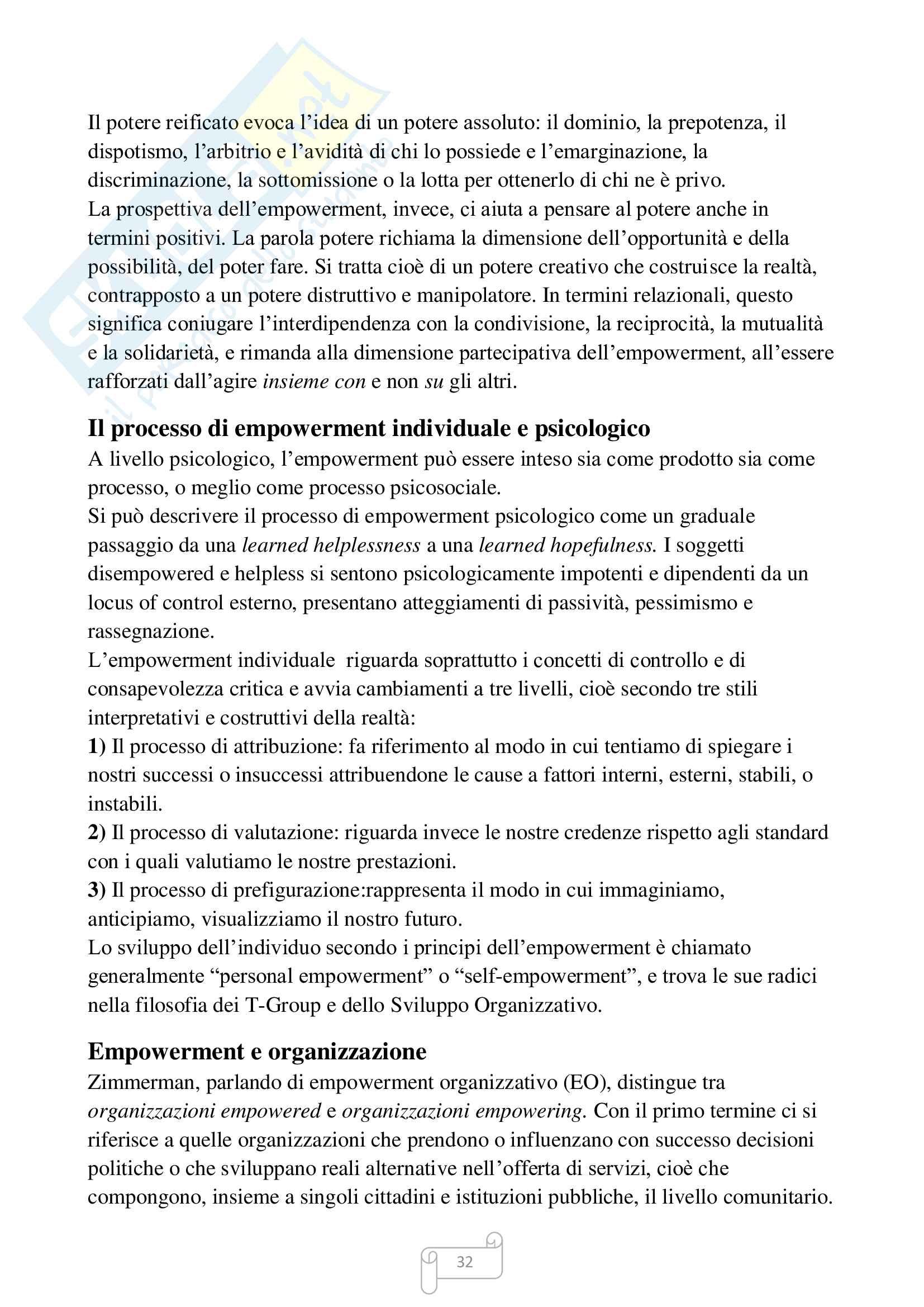 Riassunto esame Sviluppo organizzativo, prof. Santisi, libro consigliato Psicologia del lavoro, Argentero Pag. 31