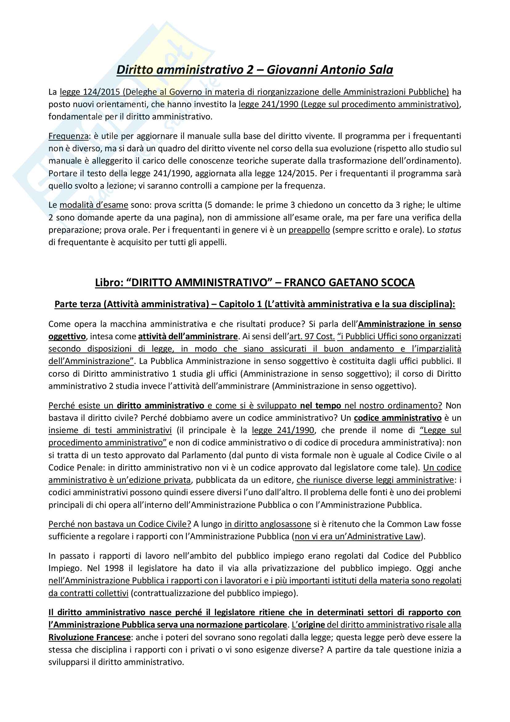 Riassunto esame Diritto Amministrativo 2, prof. P.Duret, libro consigliato Manuale di diritto amministrativo, Clarich