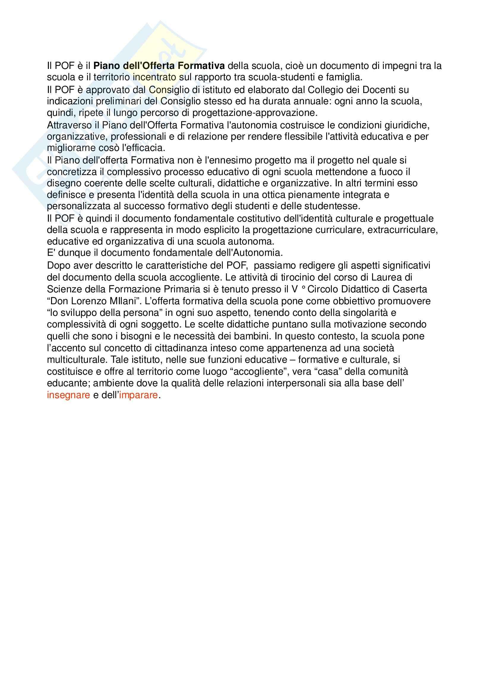 Tirocinio - POF Pag. 26