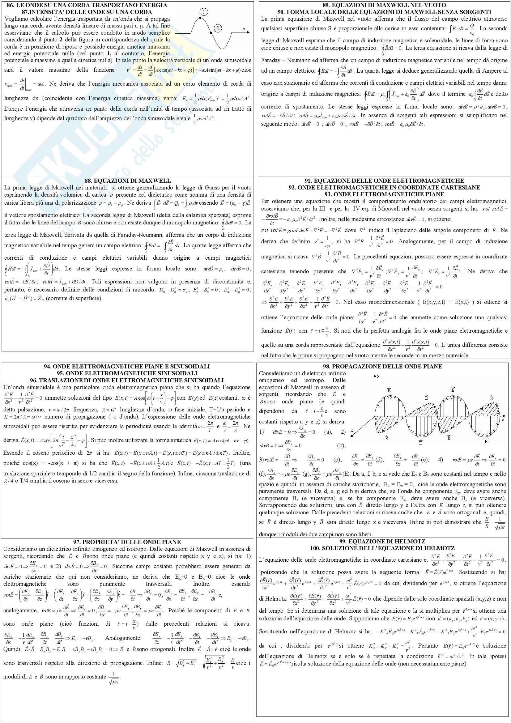 Fisica III - la propagazione delle onde Pag. 2