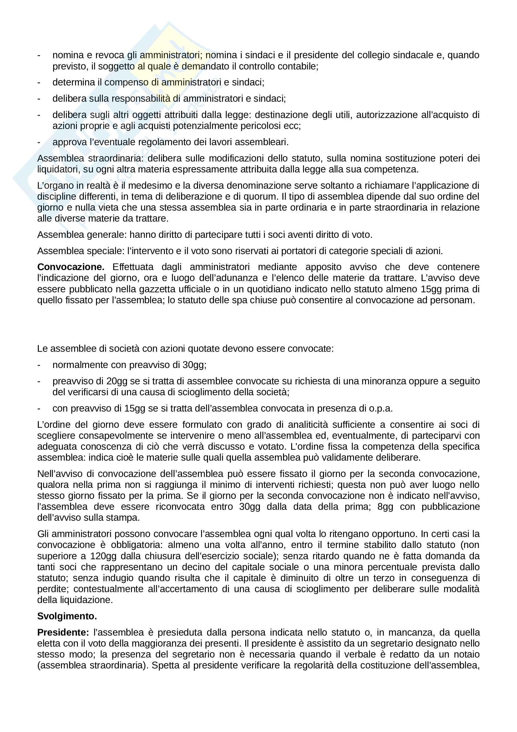 Riassunto esame Diritto Commerciale, prof. De Mari, libro consigliato Corso di Diritto Commerciale di Presti, Rescigno Pag. 26
