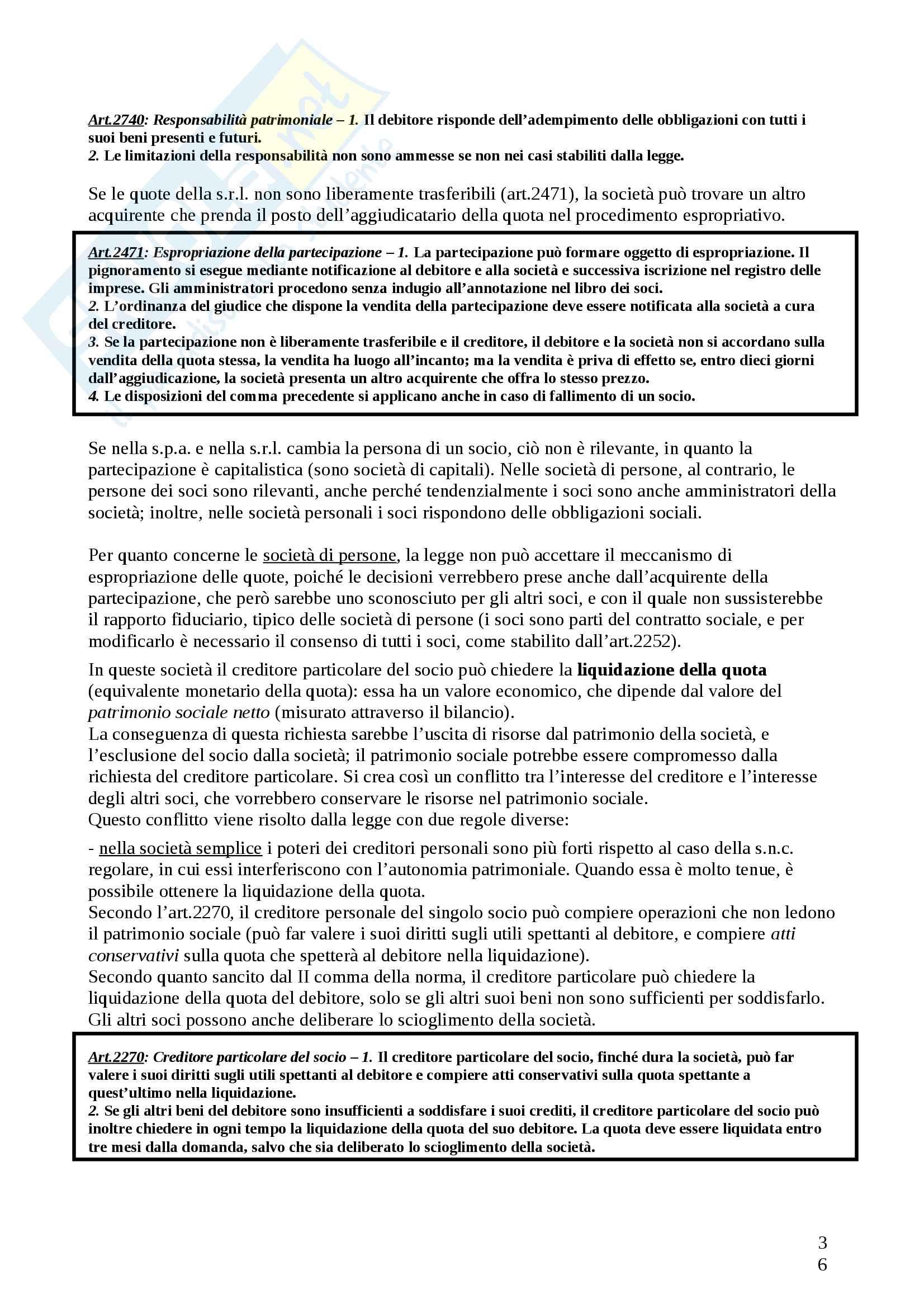 Riassunto esame diritto commerciale, Docente Santoni, Libro Manuale diritto commerciale, Campobasso Pag. 36