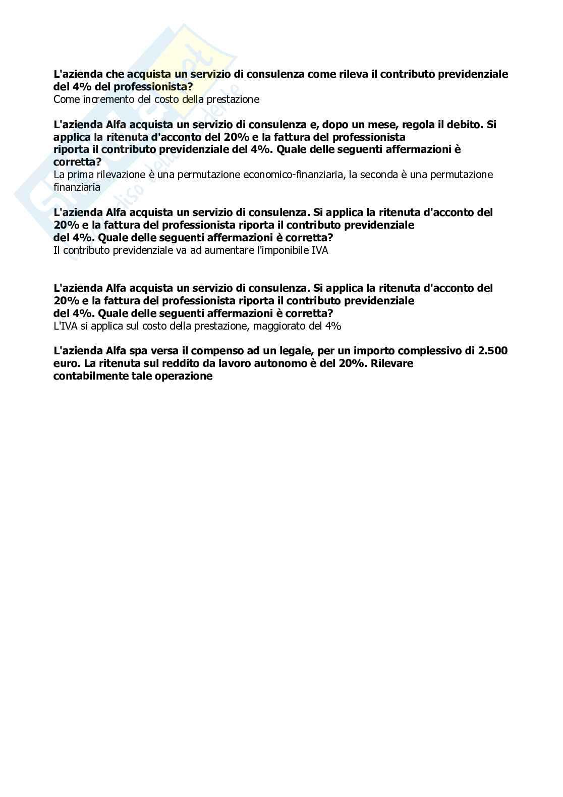 Ragioneria e contabilità aziendale (Aperte + multiple) Pag. 11