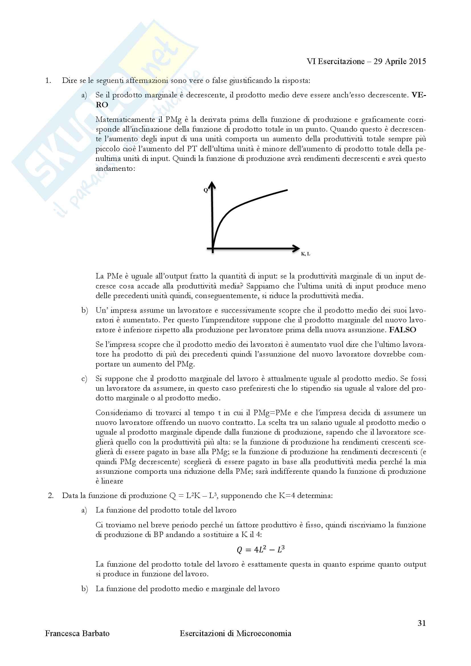 Esercitazioni di Istituzioni di Economia politica Pag. 31