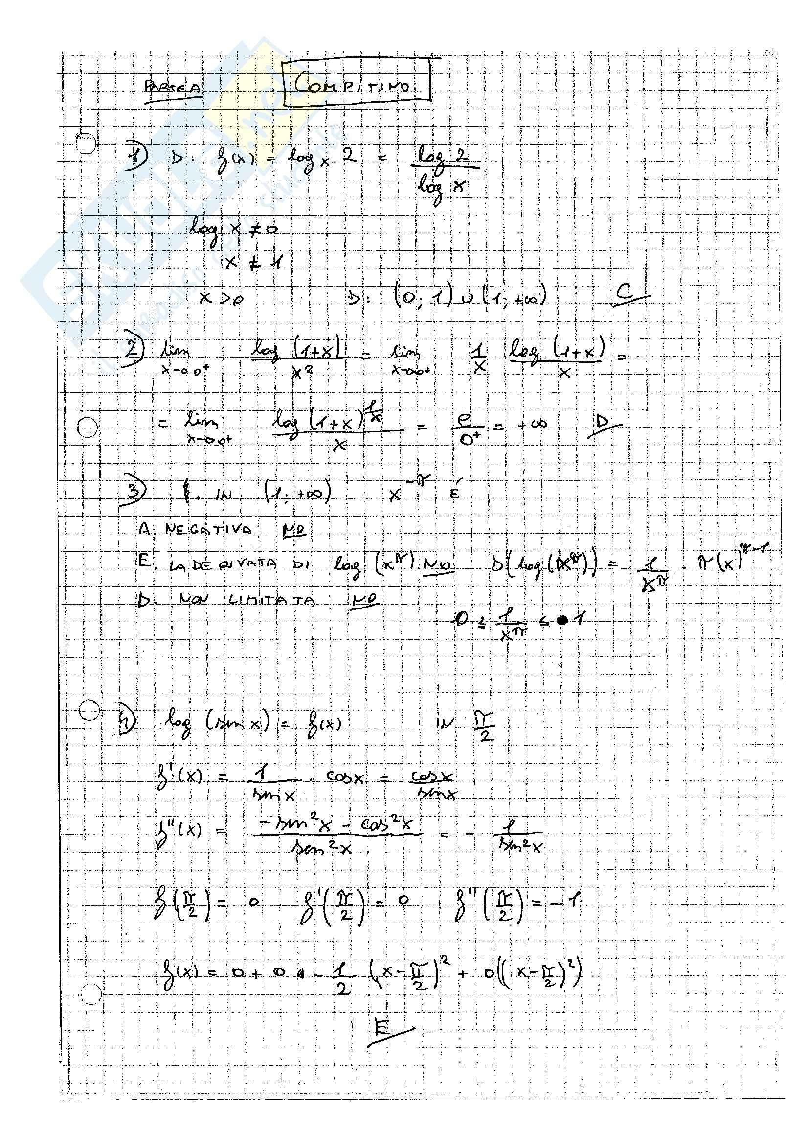 Compiti svolti, Analisi Matematica uno Pag. 121