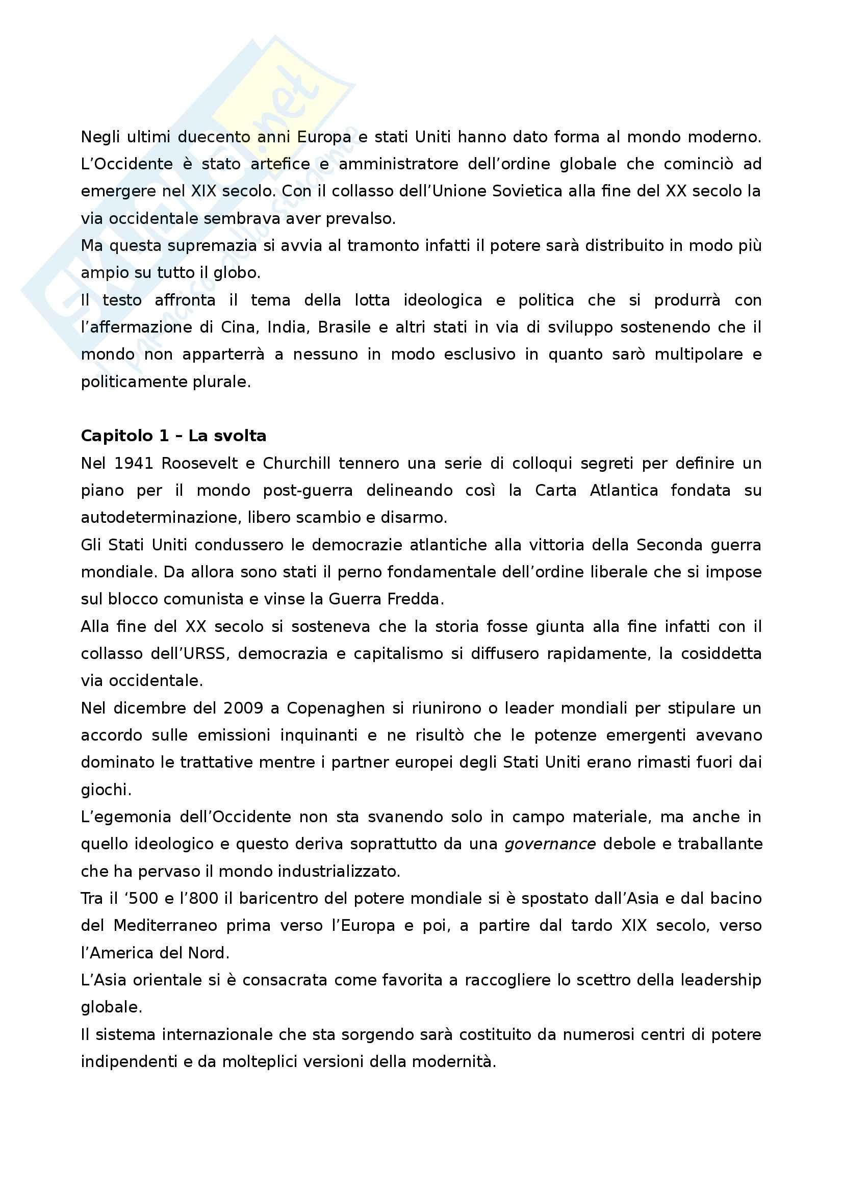 Riassunto esame Giornalismo internazionale, prof. Benotti, libro consigliato Nessuno controlla il mondo, Kupchan