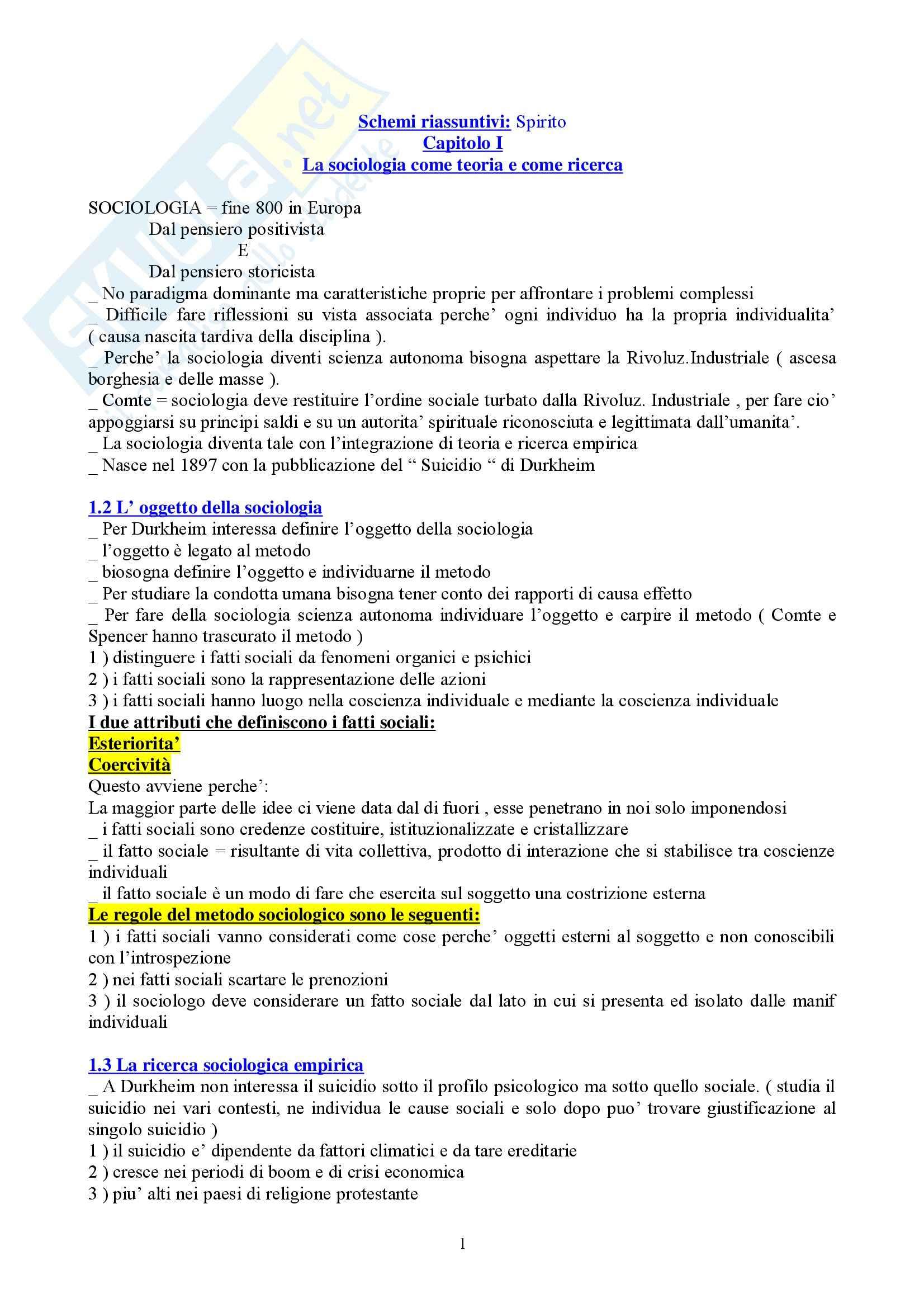 Istituzioni di Sociologia - Appunti
