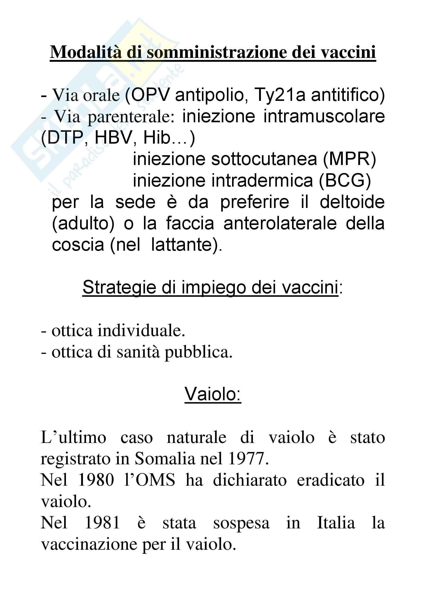 Pediatria  - modalità di somministrazione dei vaccini
