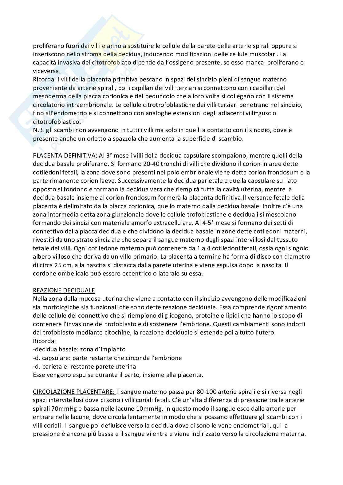 Riassunto embriologia, prof. De Felici, libro consigliato Embriologia Umana, De Felici et al, Piccin Pag. 51