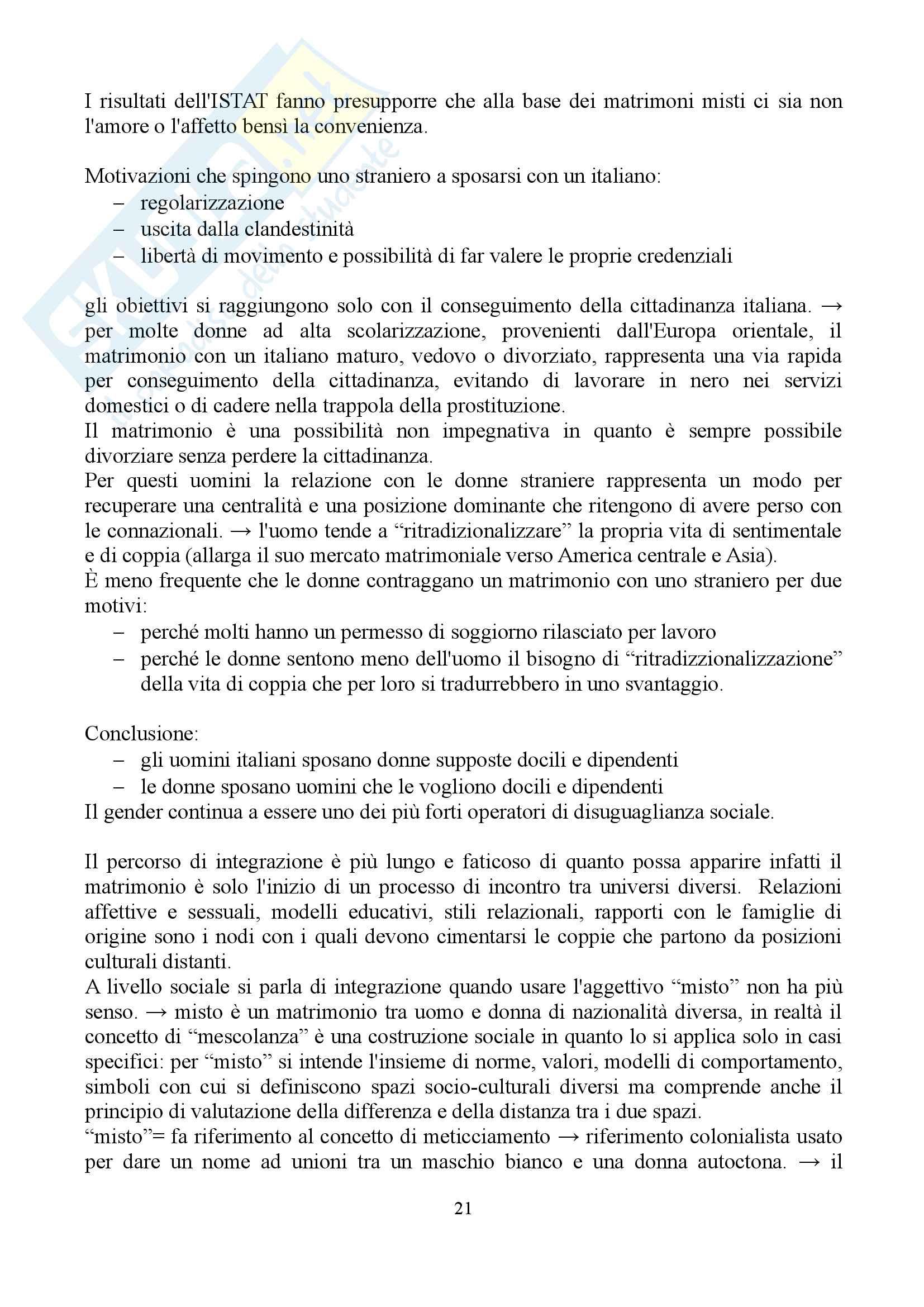 """Sunto di sociologia della famiglia, docente Diego Mesa, libro consigliato """"famiglia sostantivo plurale"""", Paola Di Nicola) Pag. 21"""