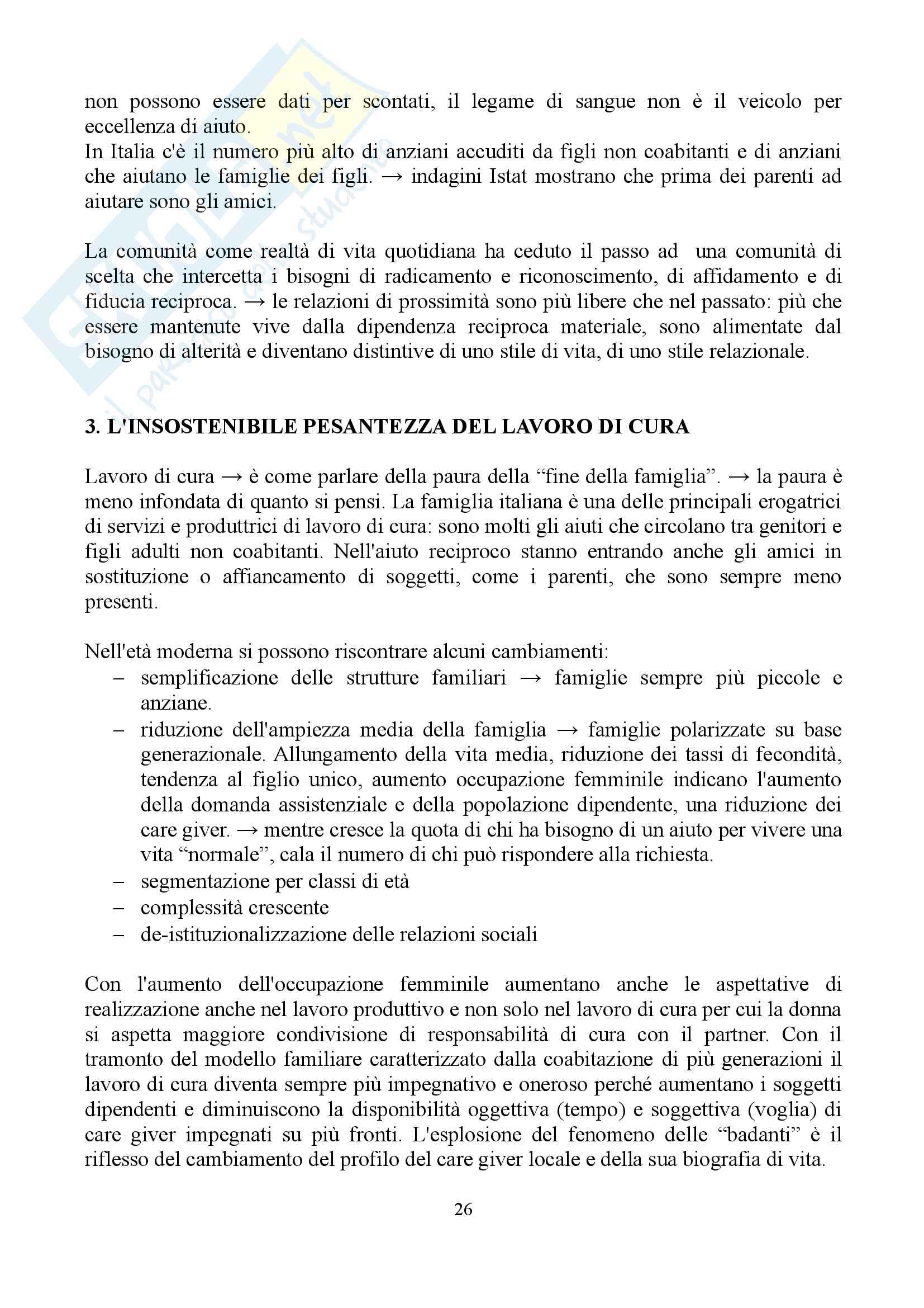 """Sunto di sociologia della famiglia, docente Diego Mesa, libro consigliato """"famiglia sostantivo plurale"""", Paola Di Nicola) Pag. 26"""