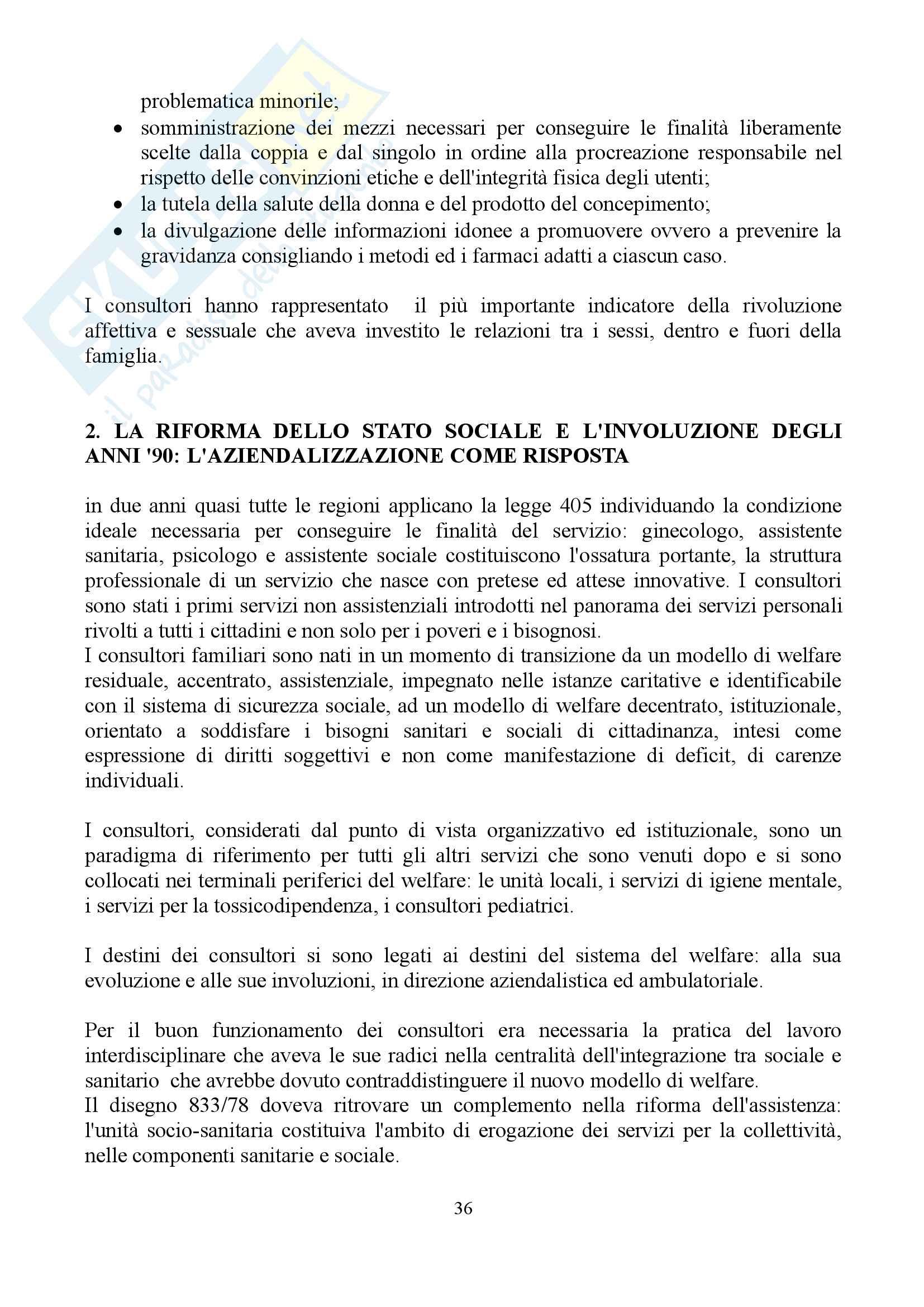 """Sunto di sociologia della famiglia, docente Diego Mesa, libro consigliato """"famiglia sostantivo plurale"""", Paola Di Nicola) Pag. 36"""
