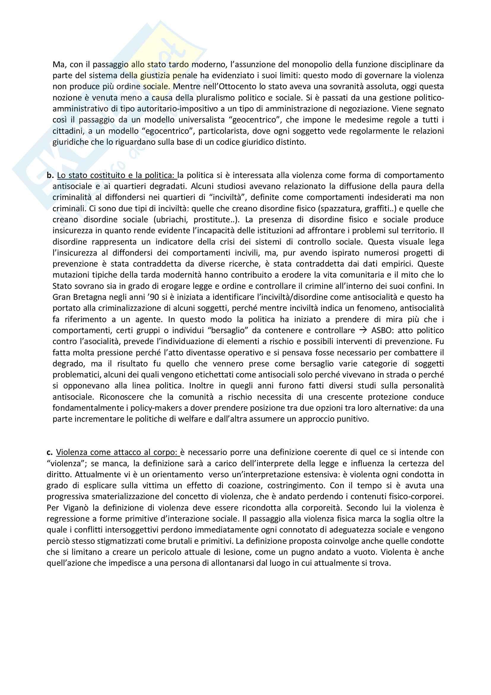 """Riassunto dell'esame: """"Criminologia prof. Ceretti, libro consigliato Cosmologie violente Pag. 2"""