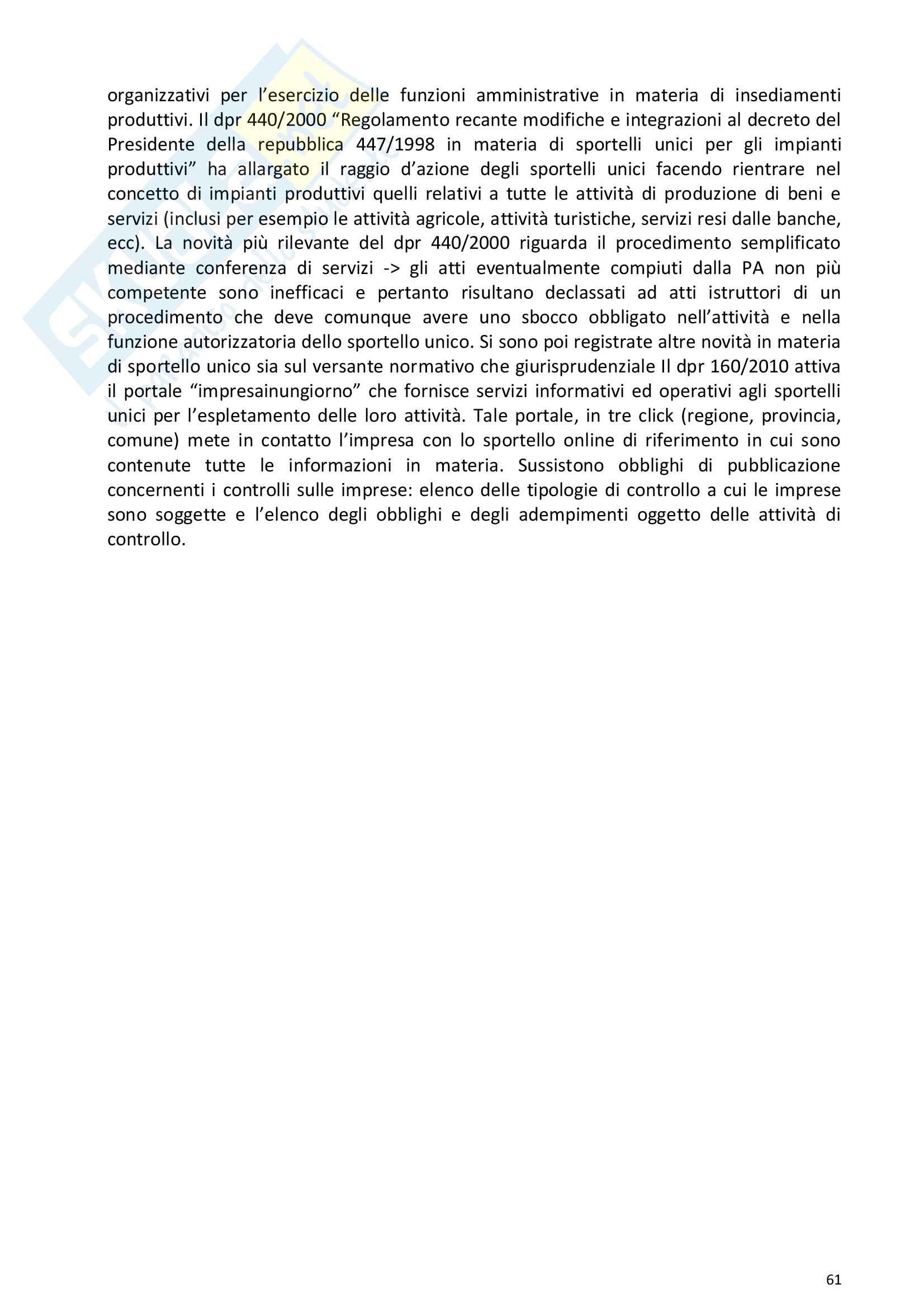 Riassunto esame Diritto della comunicazione per le imprese e i media, prof. Razzante. Libro consigliato Manuale di diritto dell'informazione e della comunicazione (Settima 7 edizione), Razzante (cap. 1,3,5,6,7,8,9) Pag. 61