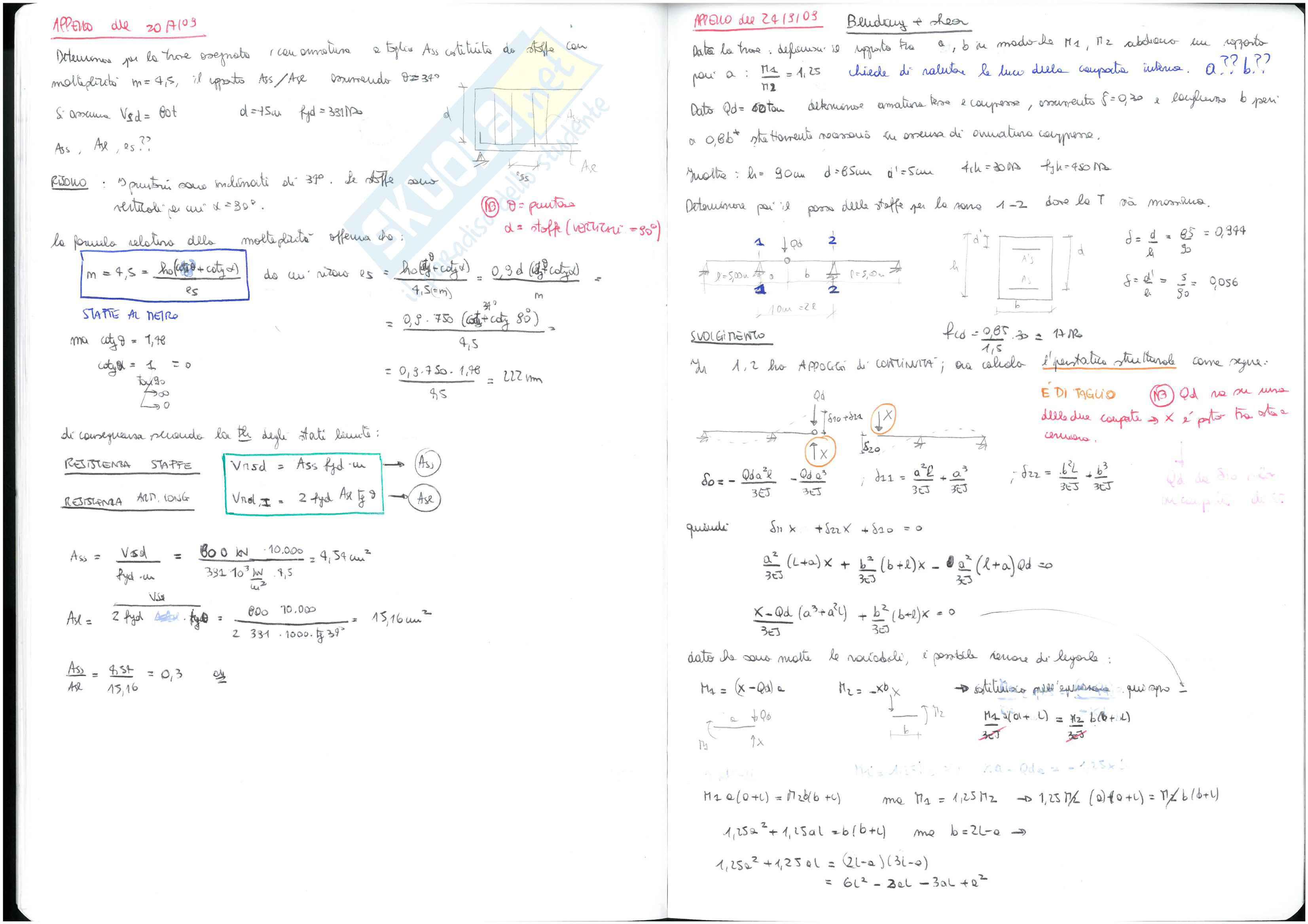 Calcestruzzo Armato - temi d'esame svolti Pag. 16