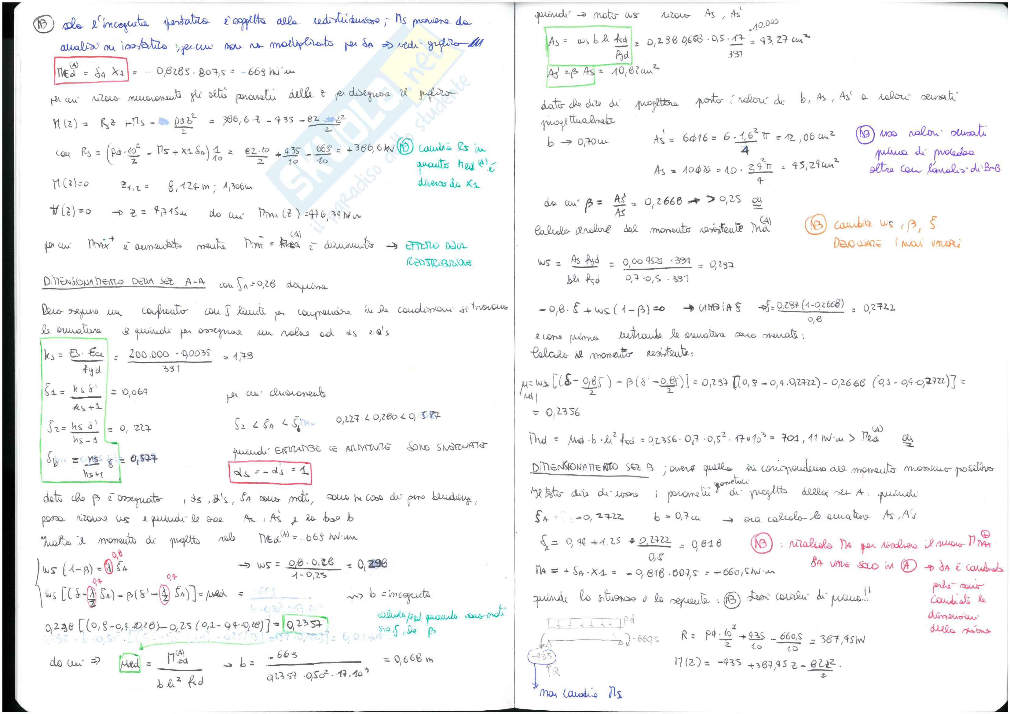 Calcestruzzo Armato - temi d'esame svolti Pag. 6