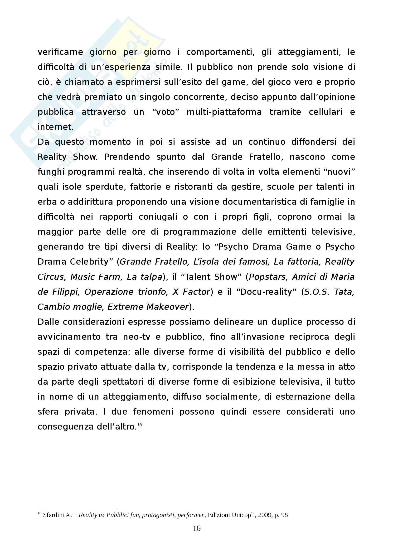 """L'influenza sociale della TV - L'""""era"""" De Filippi Pag. 16"""