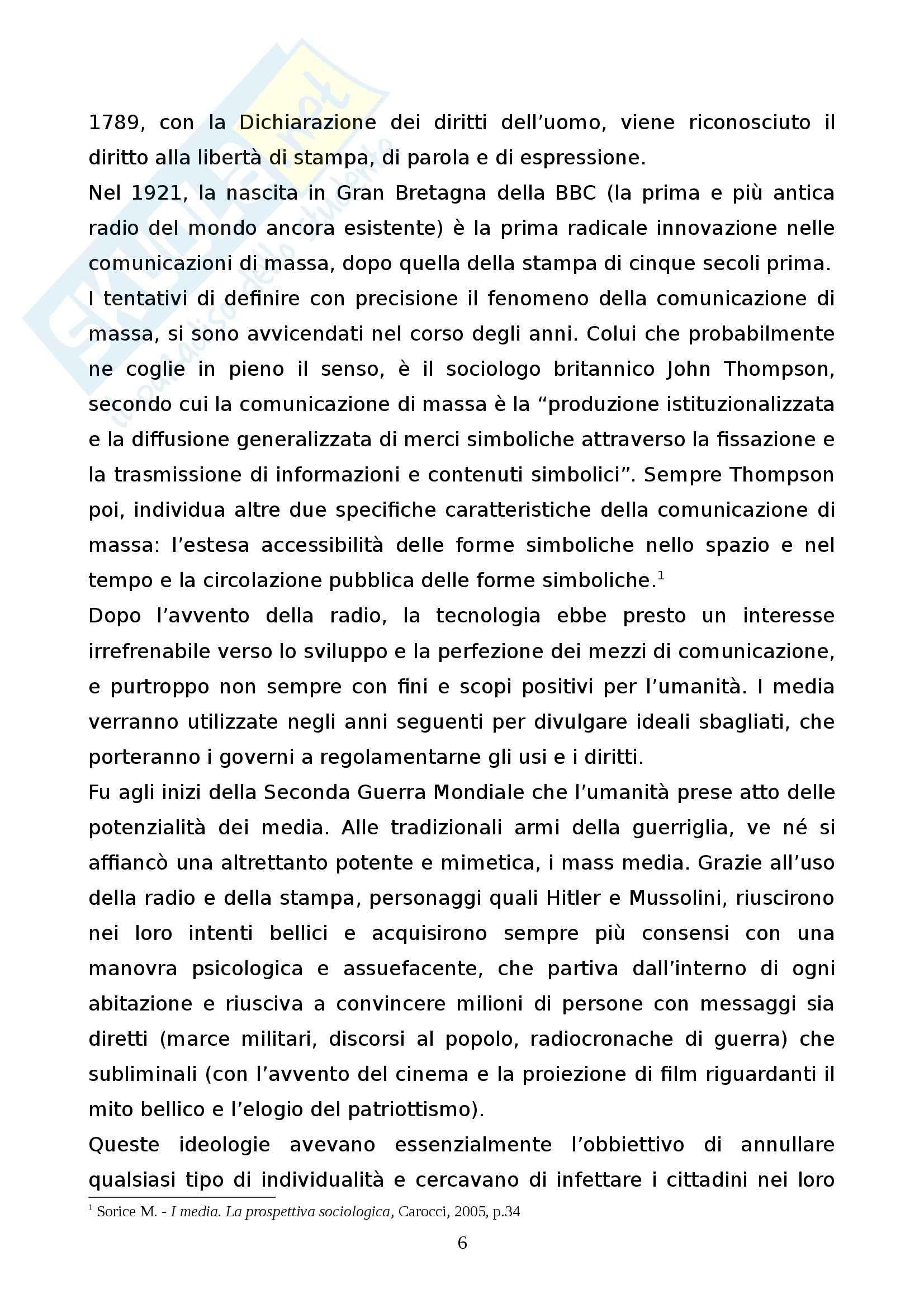 """L'influenza sociale della TV - L'""""era"""" De Filippi Pag. 6"""