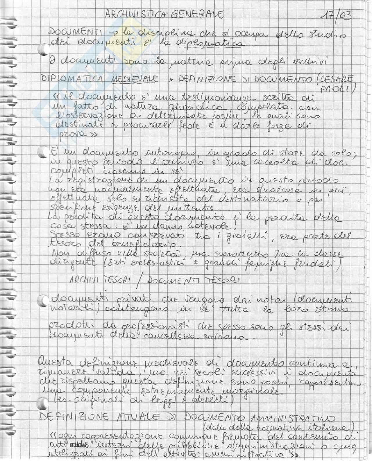 Archivistica - Aspetti generali Pag. 6