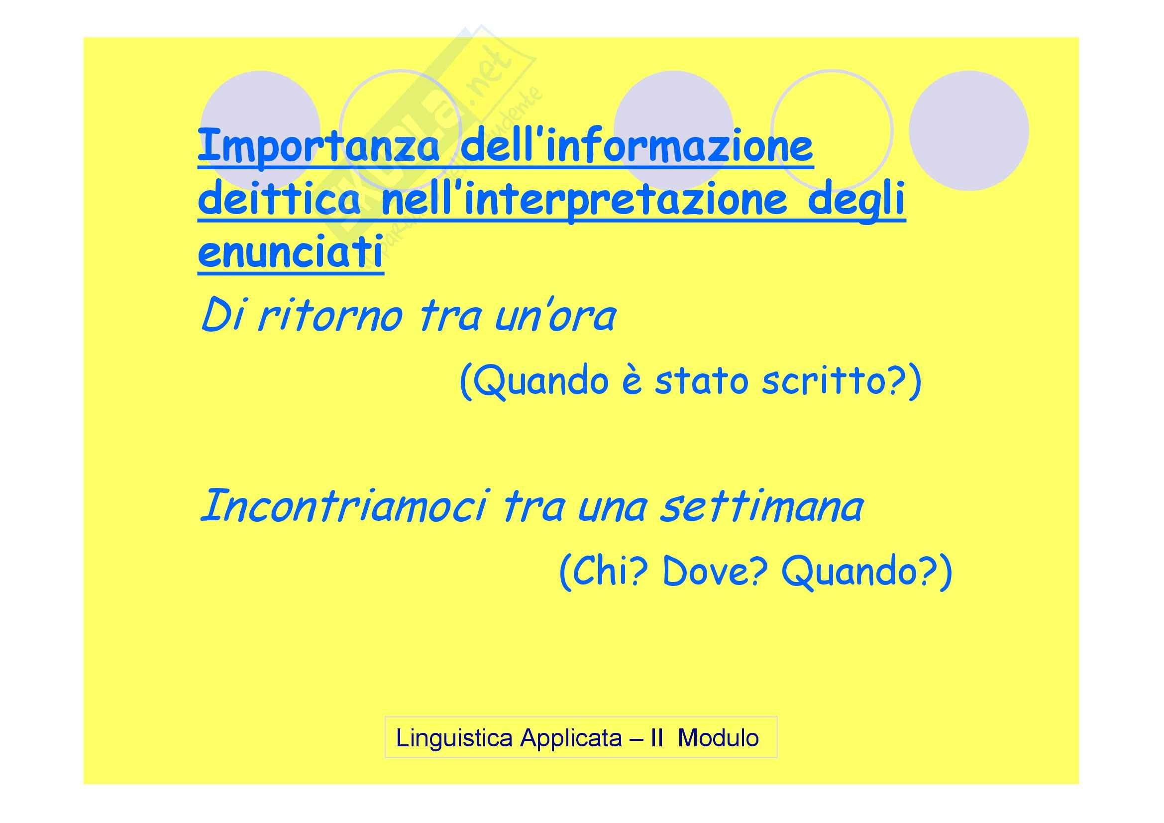 Linguistica applicata - la pragmatica Pag. 21