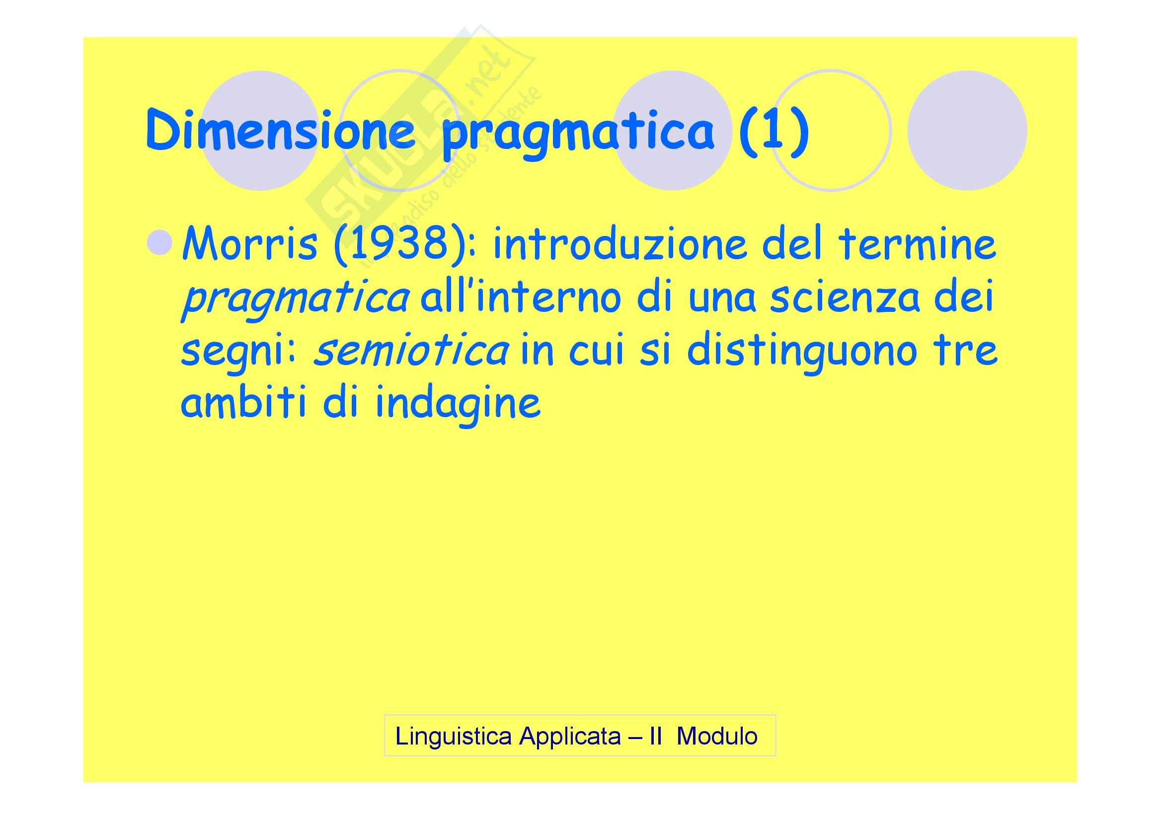 Linguistica applicata - la pragmatica Pag. 6