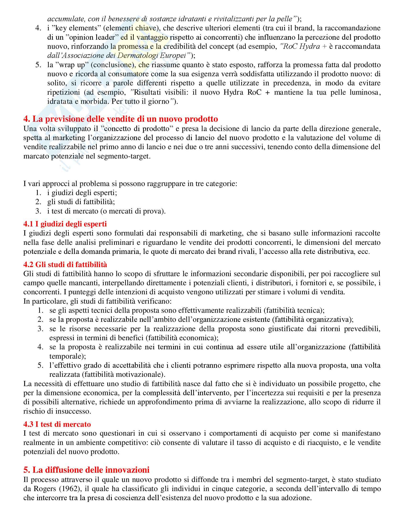 Strategie di marketing - Appunti Pag. 41