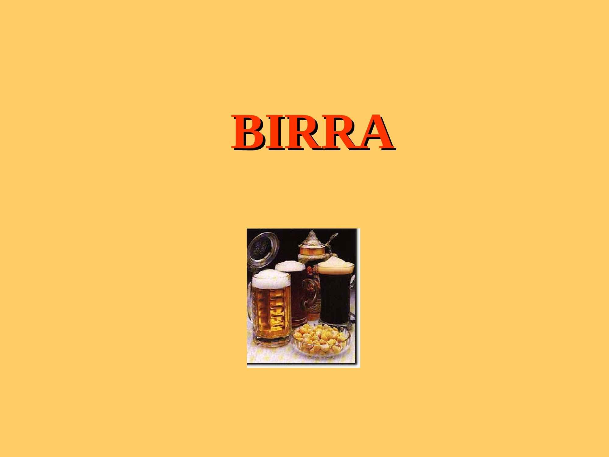 Birra - Produzione e composizione chimica