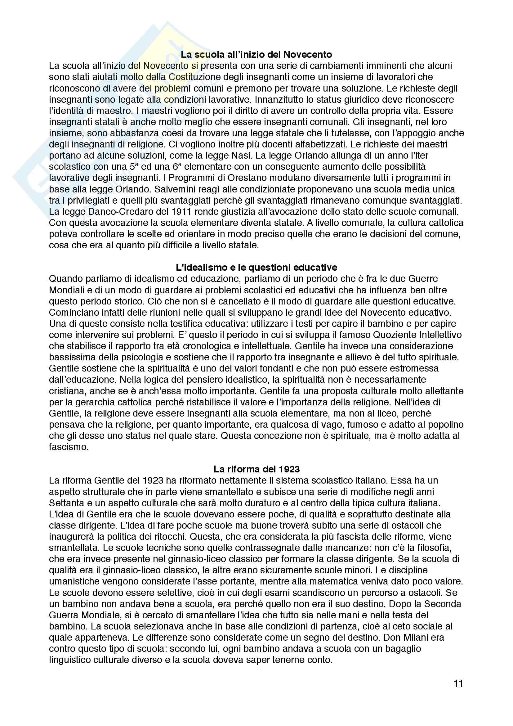 Appunti di storia dell'educazione, Storia dell'educazione, Gianfranco Bandini Pag. 11