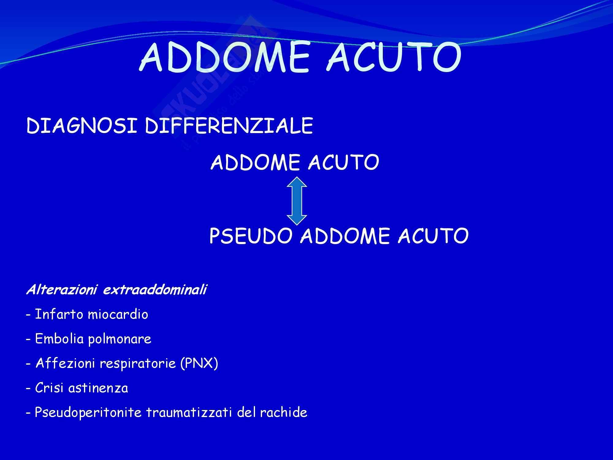 Chirurgia dell'Apparato digerente - Addome Acuto Pag. 2