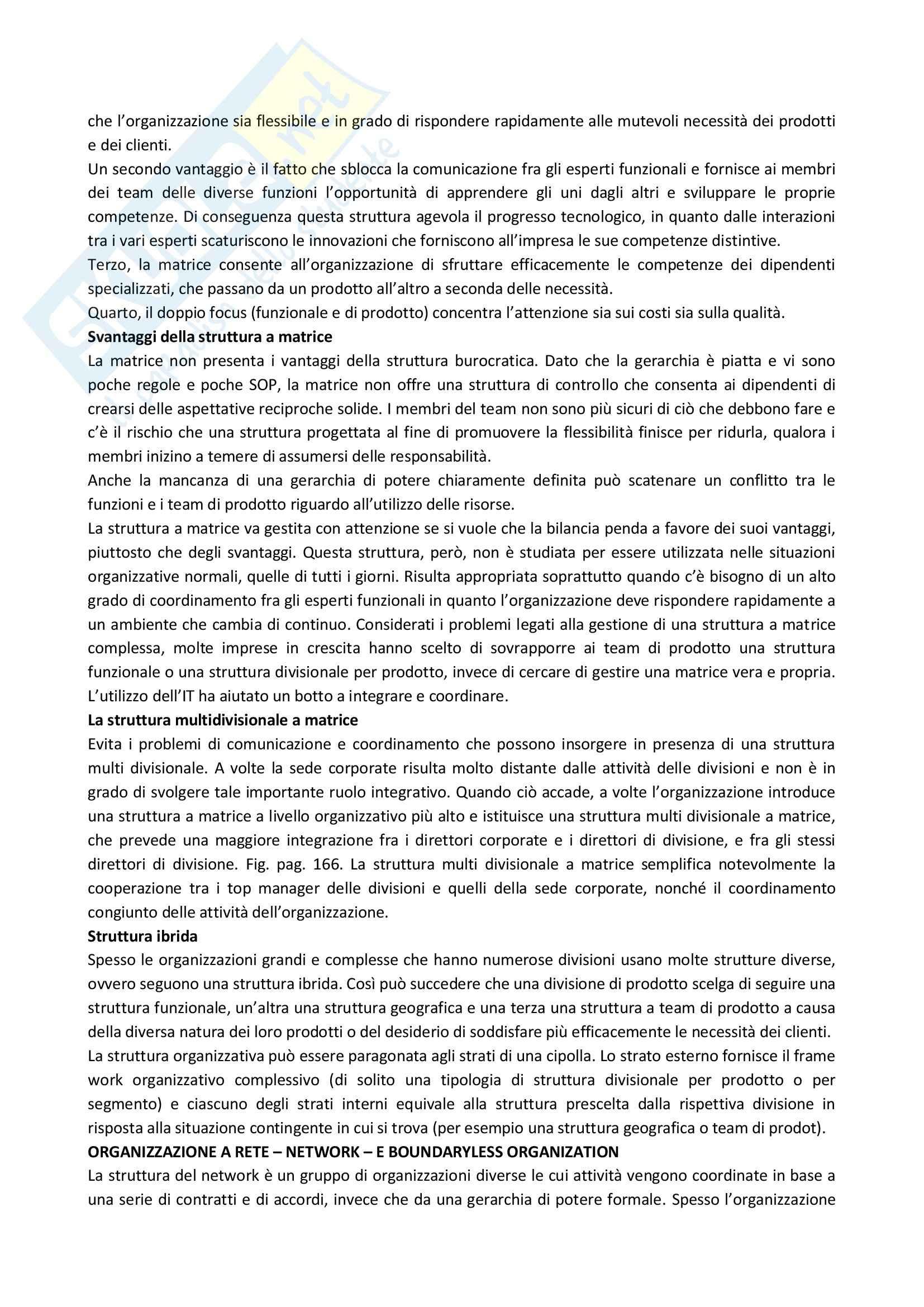 Riassunto esame Organizzazione Aziendale, prof. Soda, libro consigliato Organizzazione: Teoria, Progettazione, Cambiamento, Jones Pag. 36