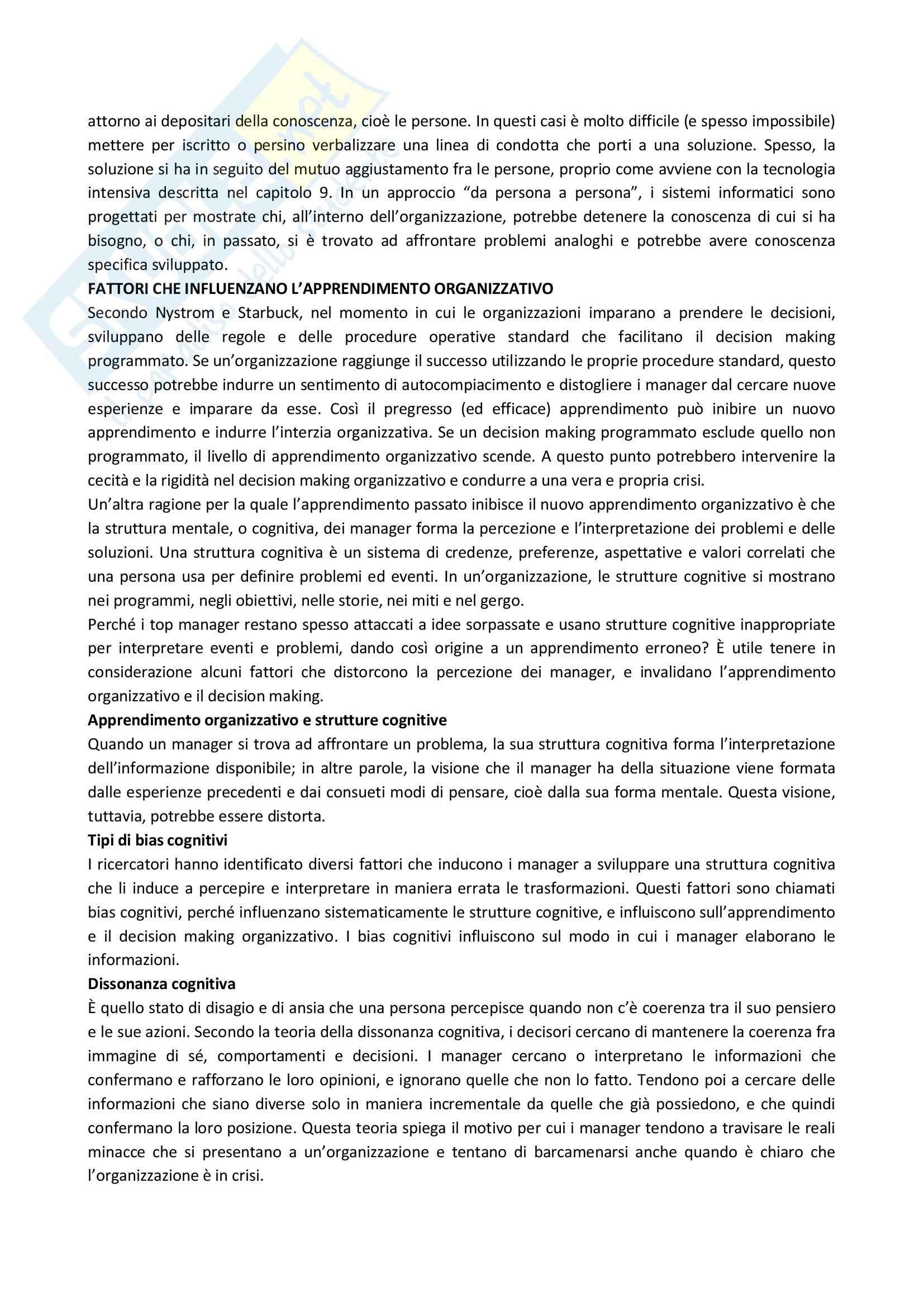 Riassunto esame Organizzazione Aziendale, prof. Soda, libro consigliato Organizzazione: Teoria, Progettazione, Cambiamento, Jones Pag. 81