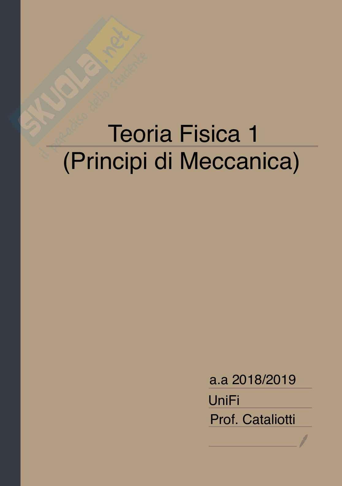 Appunti di Fisica 1 - Principi di Meccanica