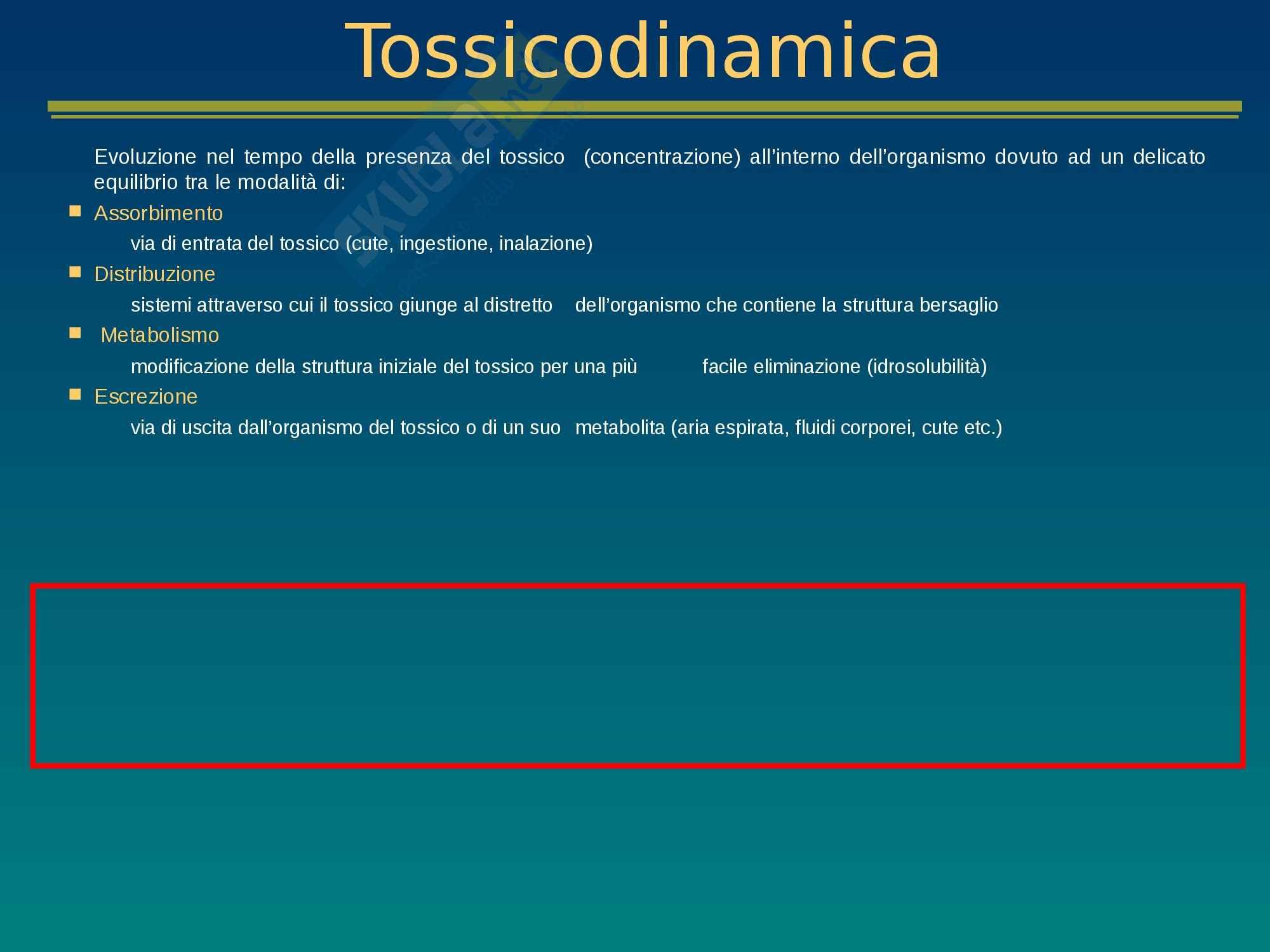 Tossicologia e mutagenesi ambientale - Appunti Lezione 5