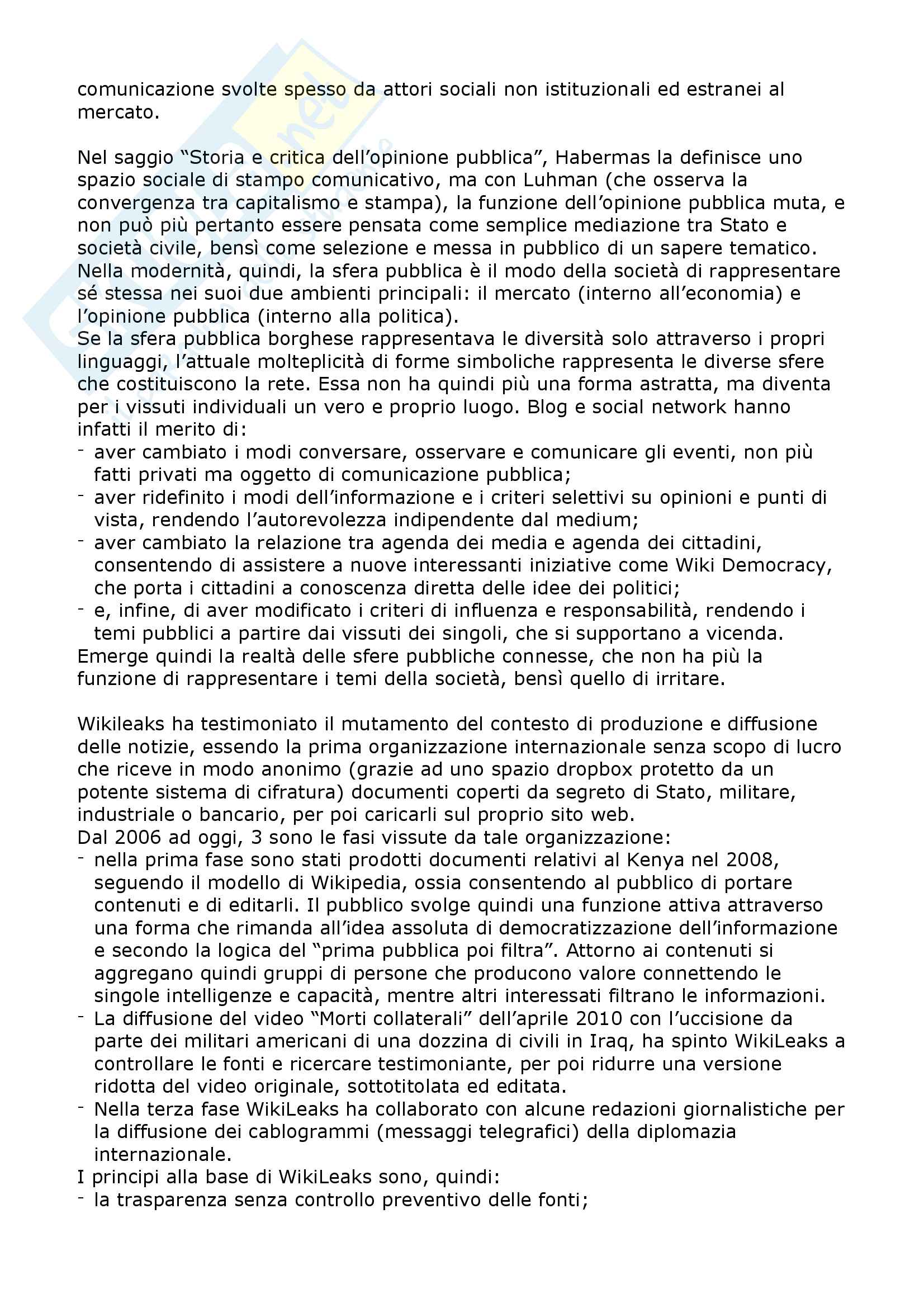 Riassunto esame Sociologia dei New media e Internet studies, prof. Boccia Artieri, libro consigliato Stati di connessione, Boccia Artieri Pag. 26