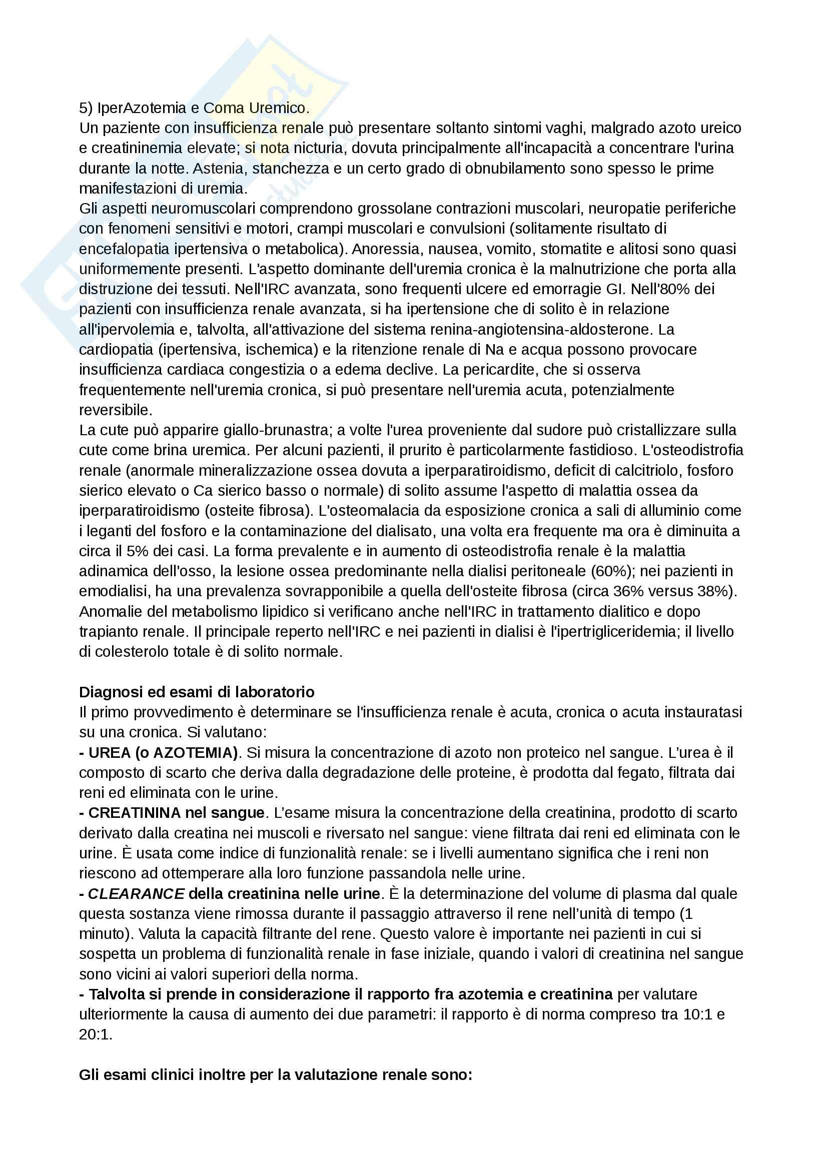 Assistenza al paziente in dialisi, Infermieristica clinica in area critica Pag. 2