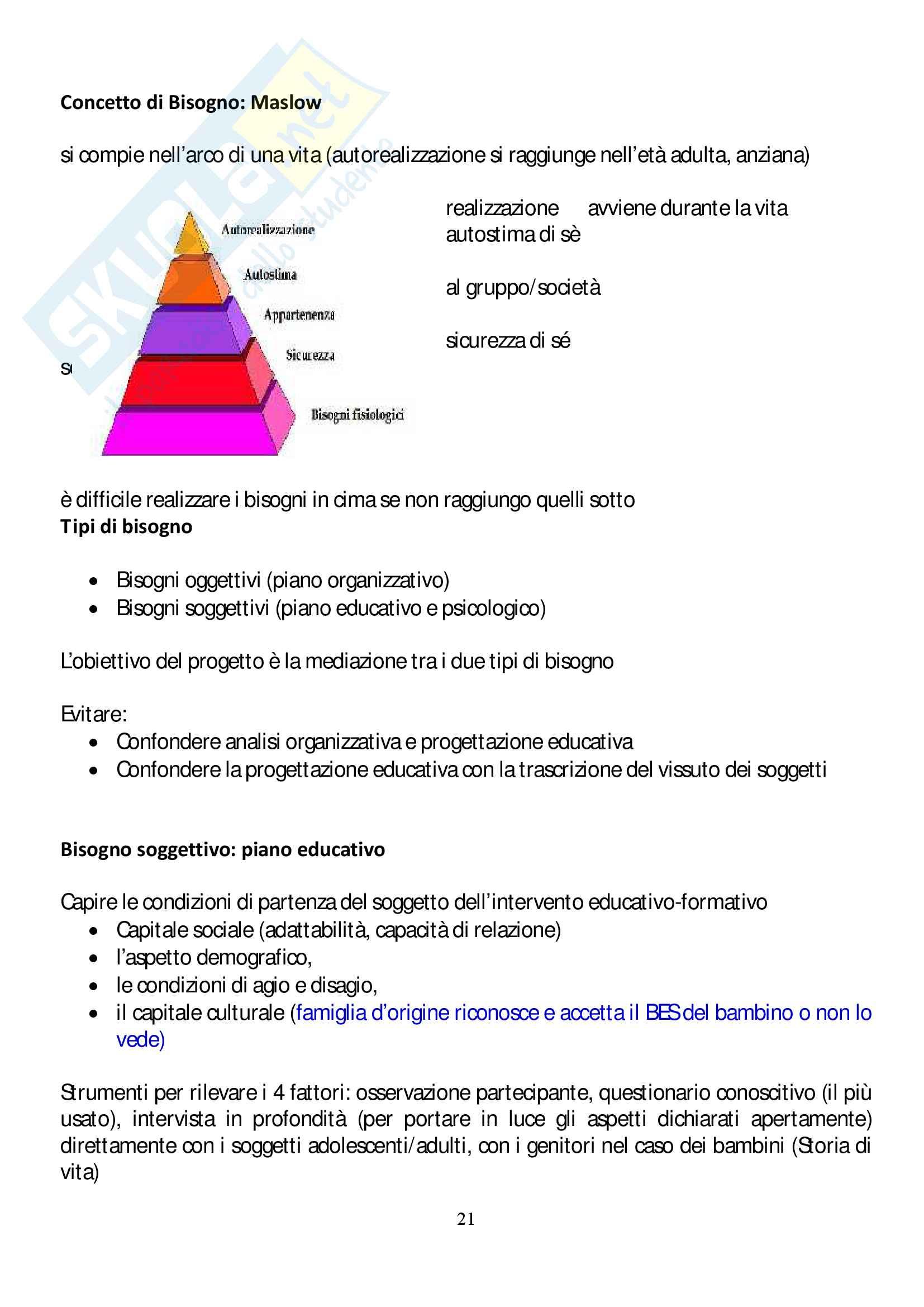 Riassunto esame progettazione didattica, Gloria Sinini, libro consigliato Fare didattica con gli EAS , Pier Cesare Rivoltella Pag. 21