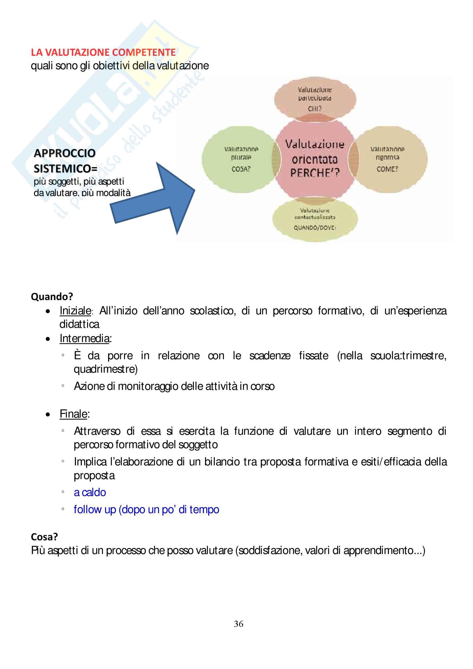 Riassunto esame progettazione didattica, Gloria Sinini, libro consigliato Fare didattica con gli EAS , Pier Cesare Rivoltella Pag. 36