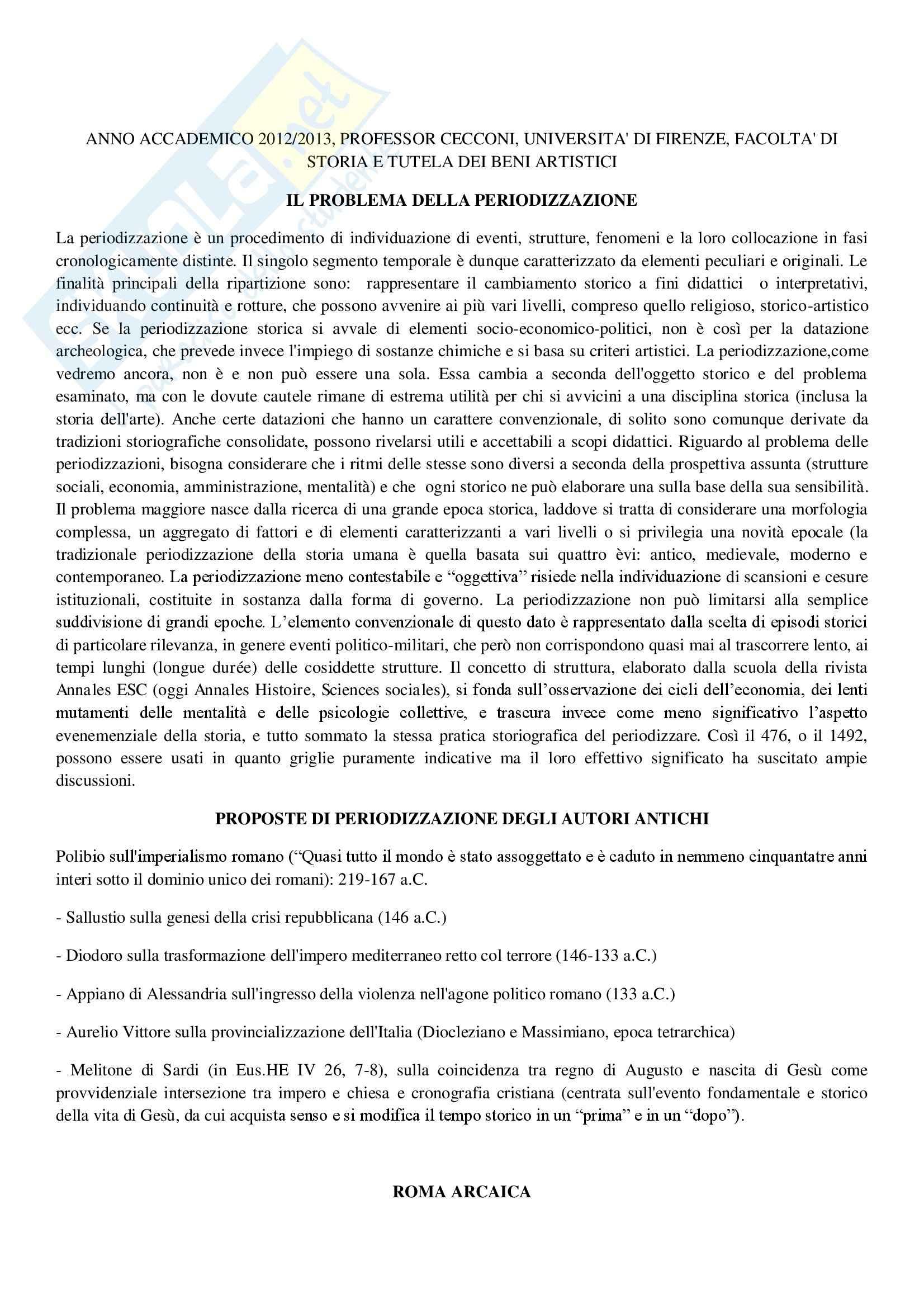 Riassunto esame Storia romana, prof. Cecconi, libro consigliato La città e l' impero-dalle origini a Teodosio il grande