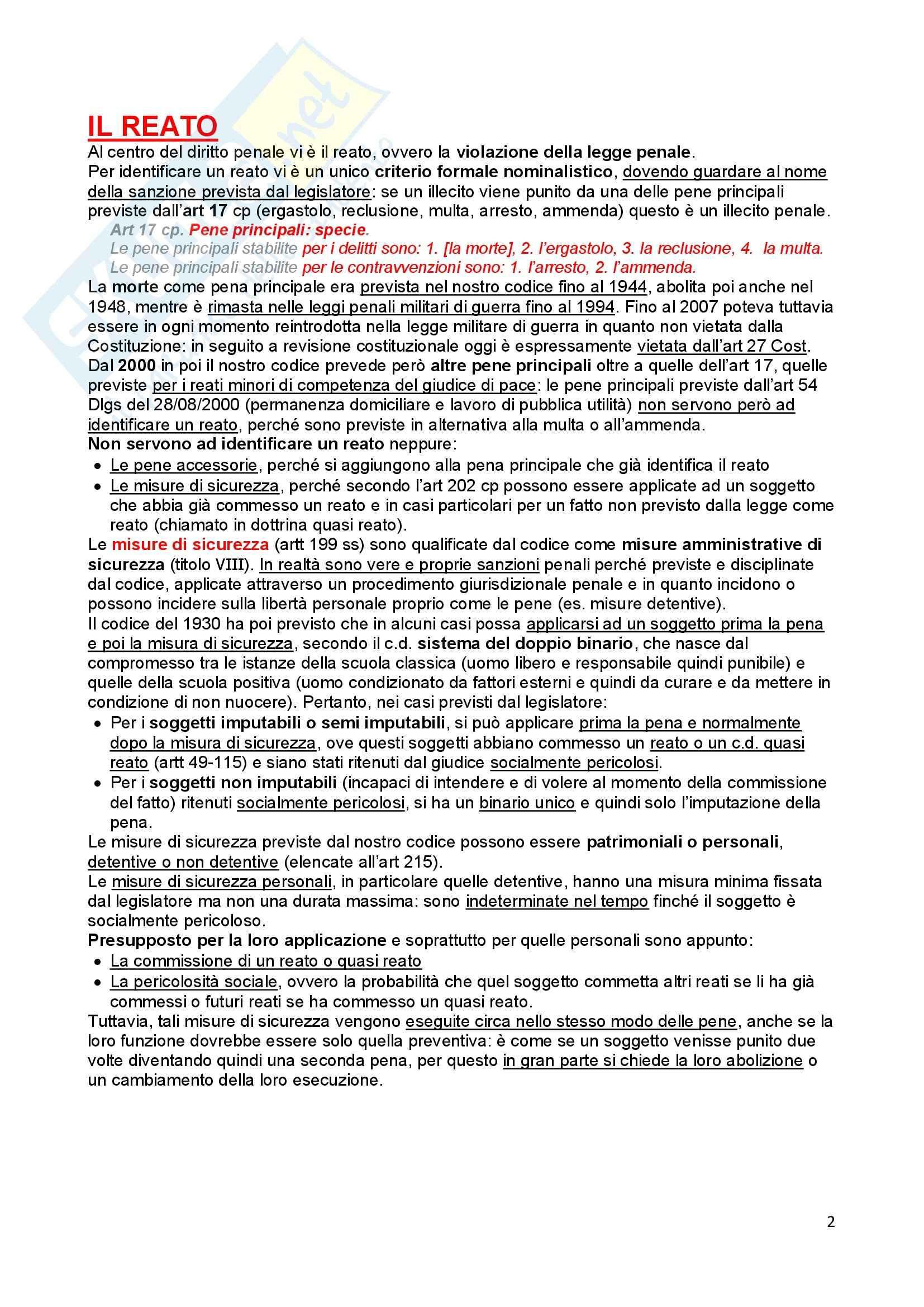 Diritto penale - Appunti Pag. 2