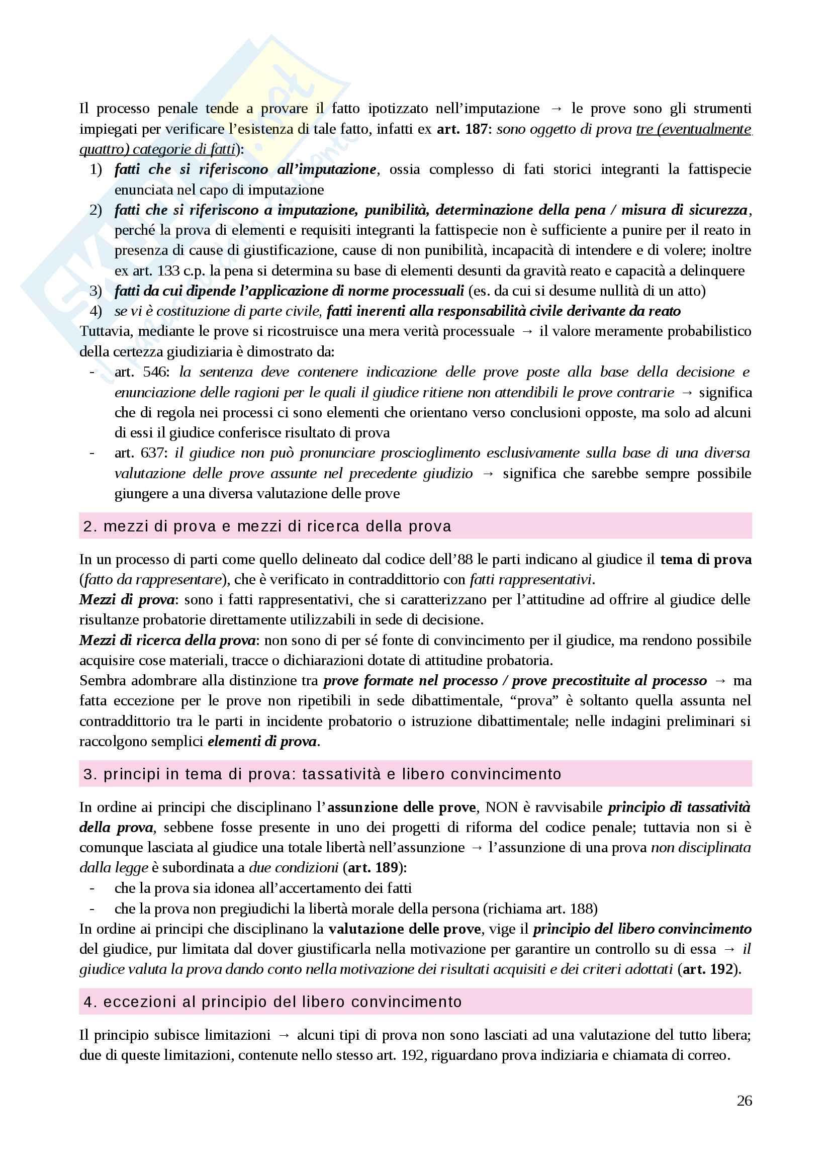 Riassunto esame Diritto processuale penale, prof. Caprioli, libro consigliato Lozzi Pag. 26