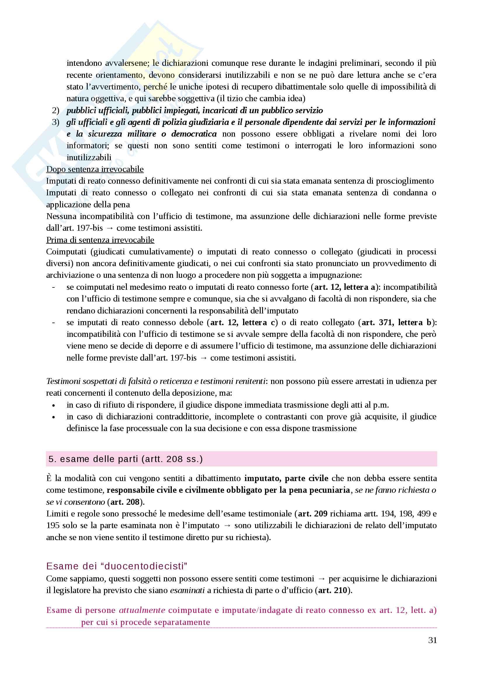 Riassunto esame Diritto processuale penale, prof. Caprioli, libro consigliato Lozzi Pag. 31