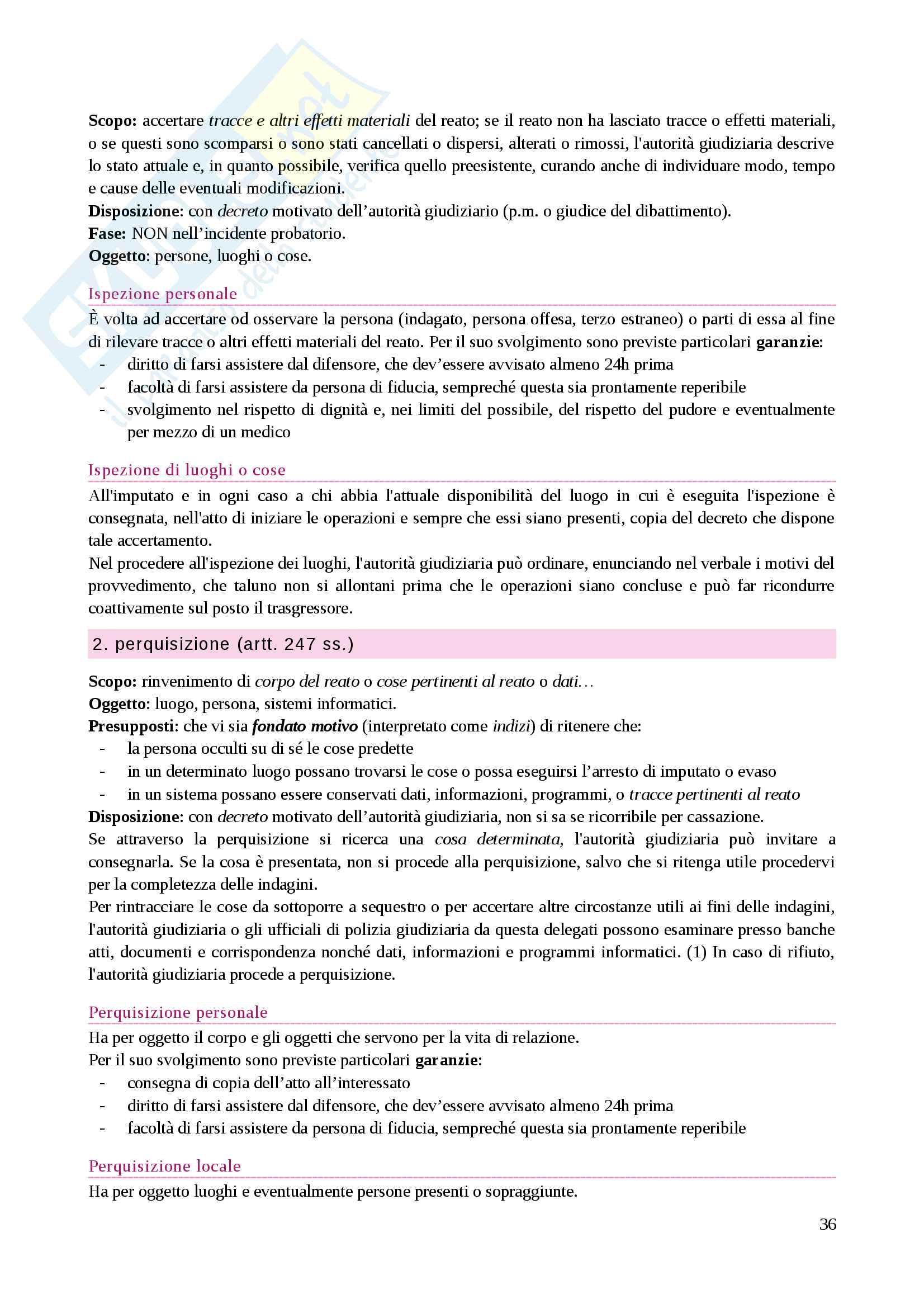 Riassunto esame Diritto processuale penale, prof. Caprioli, libro consigliato Lozzi Pag. 36