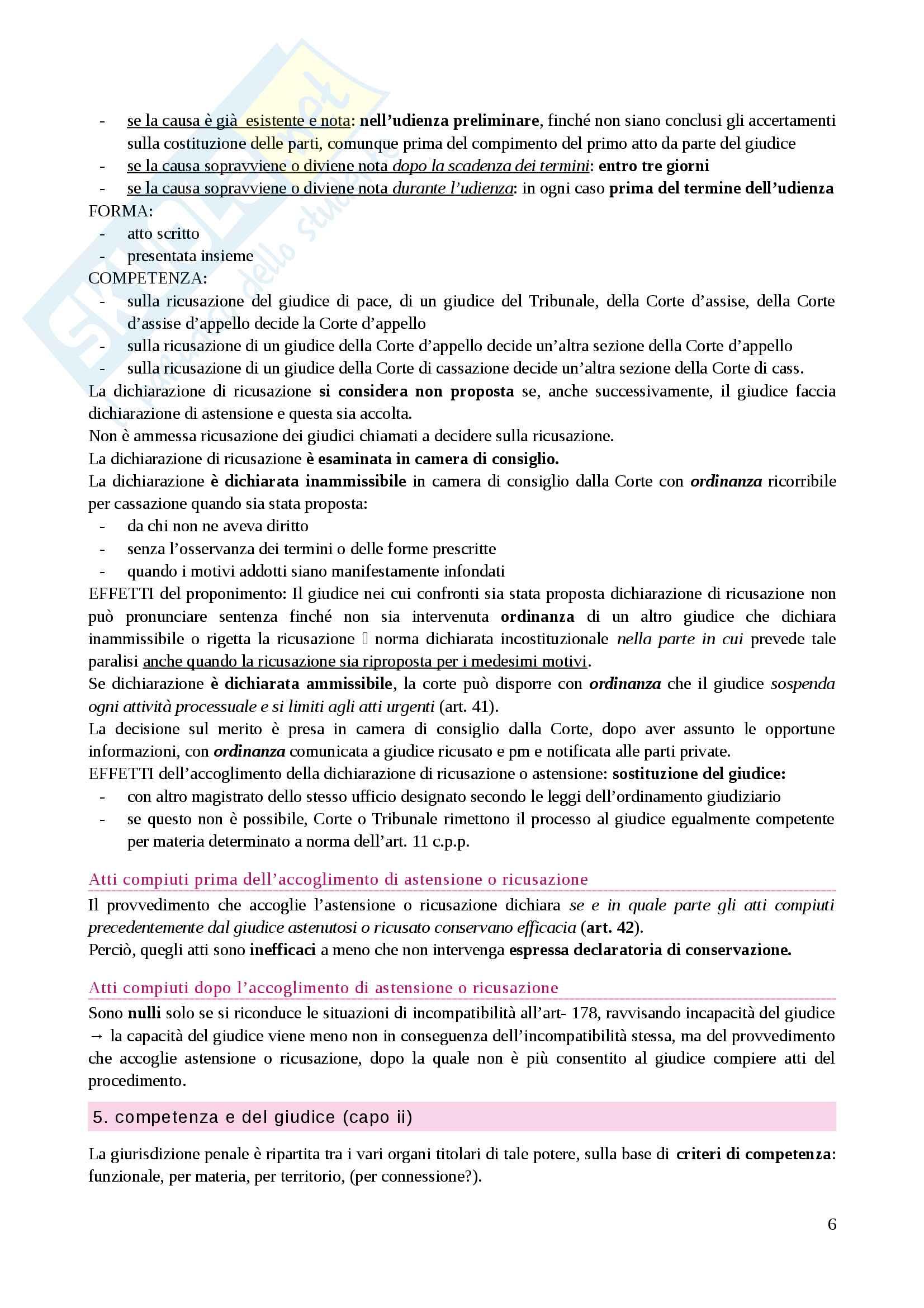 Riassunto esame Diritto processuale penale, prof. Caprioli, libro consigliato Lozzi Pag. 6