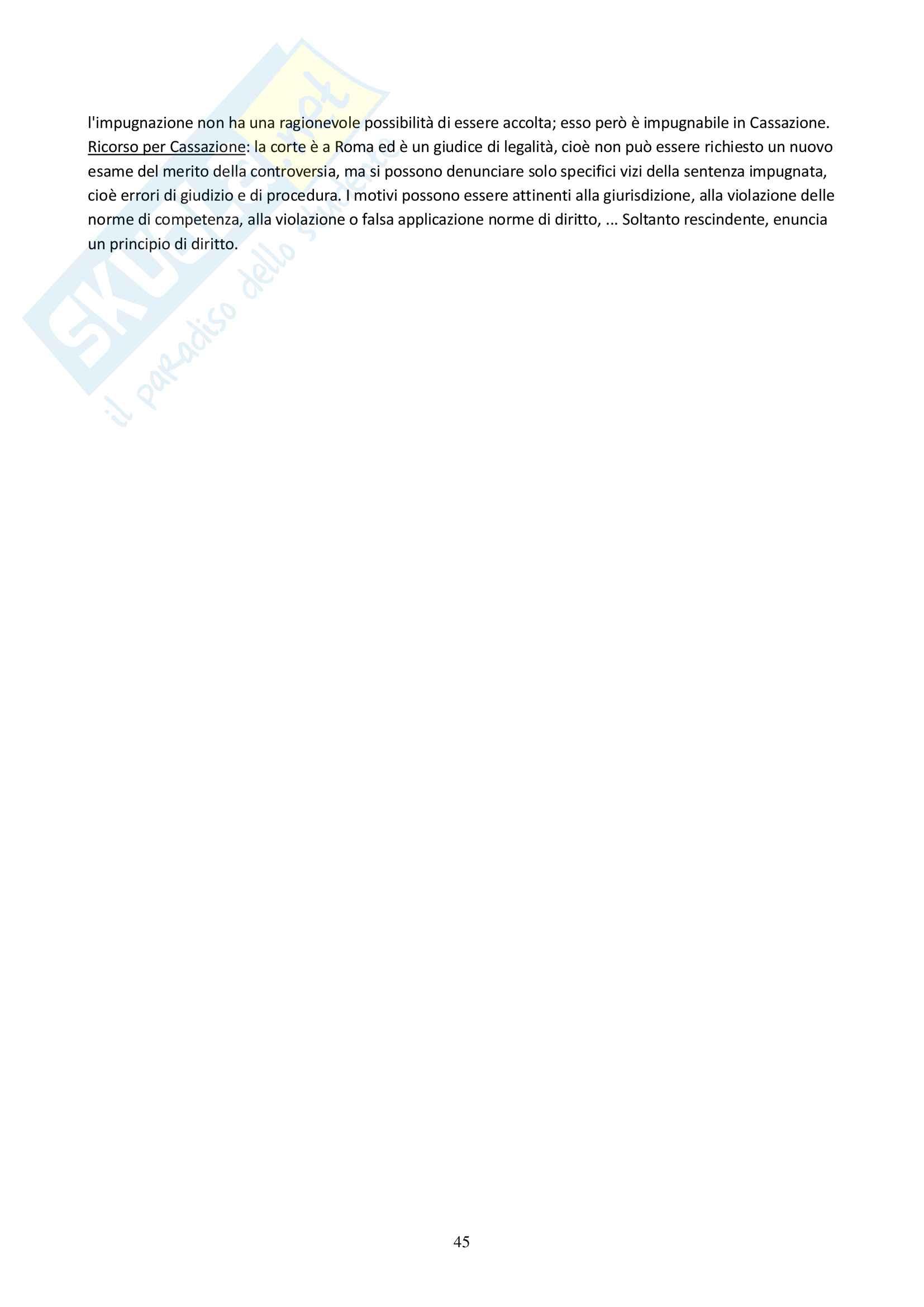 Appunti delle lezioni di Diritto Processuale Civile del Prof. Filippo Corsini, Anno Accademico 2014/2015 Pag. 46