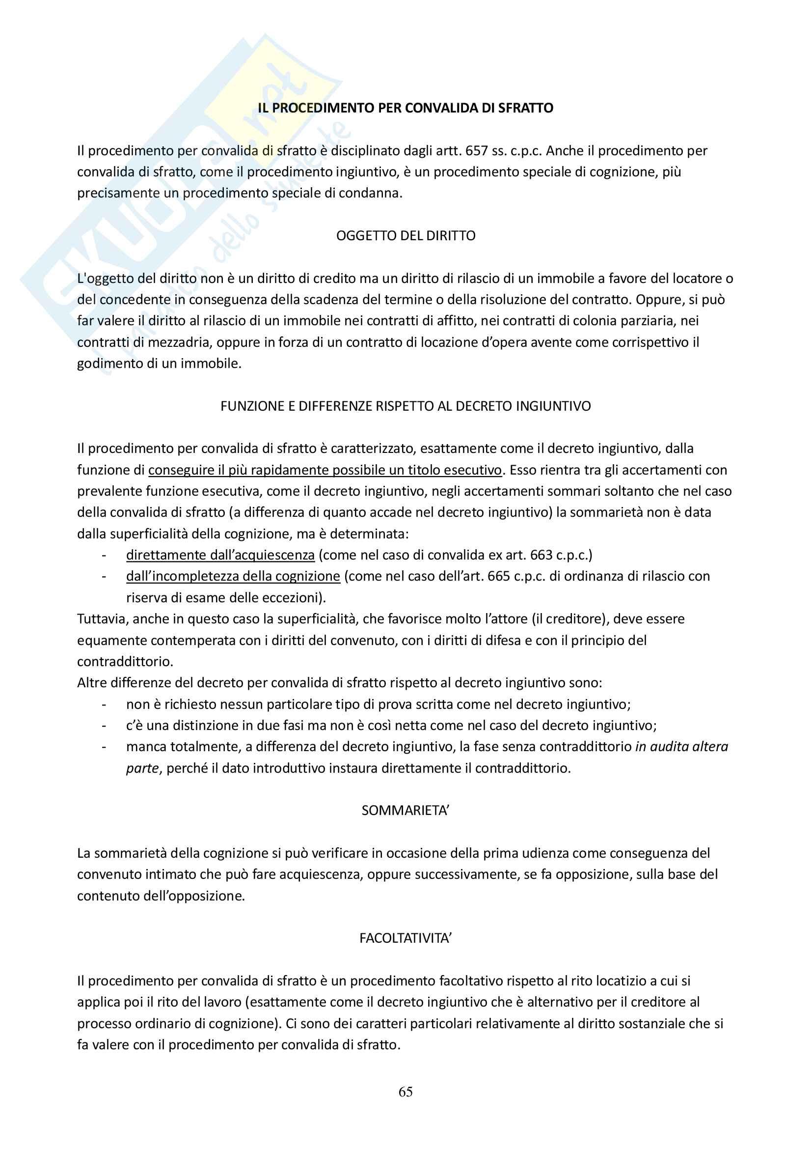 Appunti delle lezioni di Diritto Processuale Civile del Prof. Filippo Corsini, Anno Accademico 2014/2015 Pag. 66