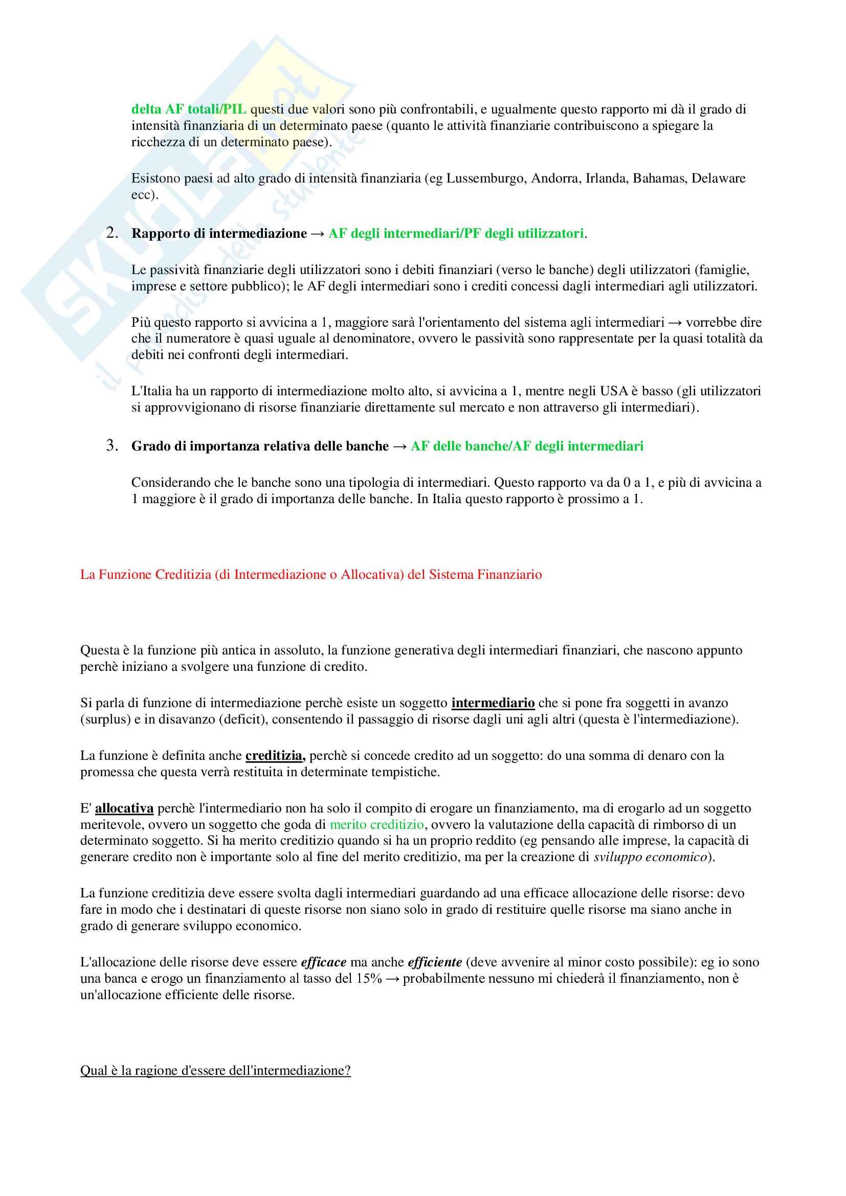 Appunti Economia degli intermediari finanziari Pag. 6
